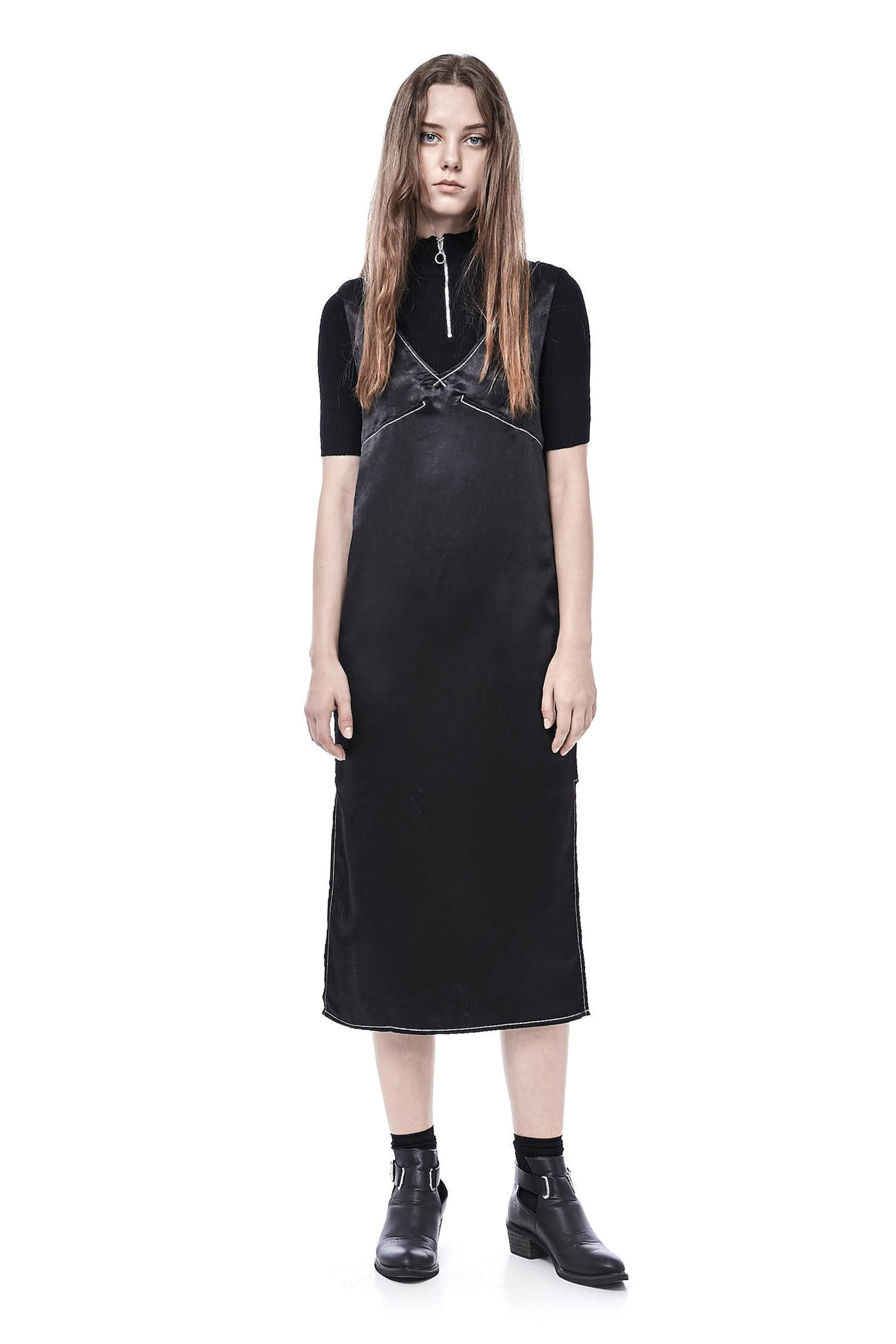 Kaelin Contrast Seam Dress