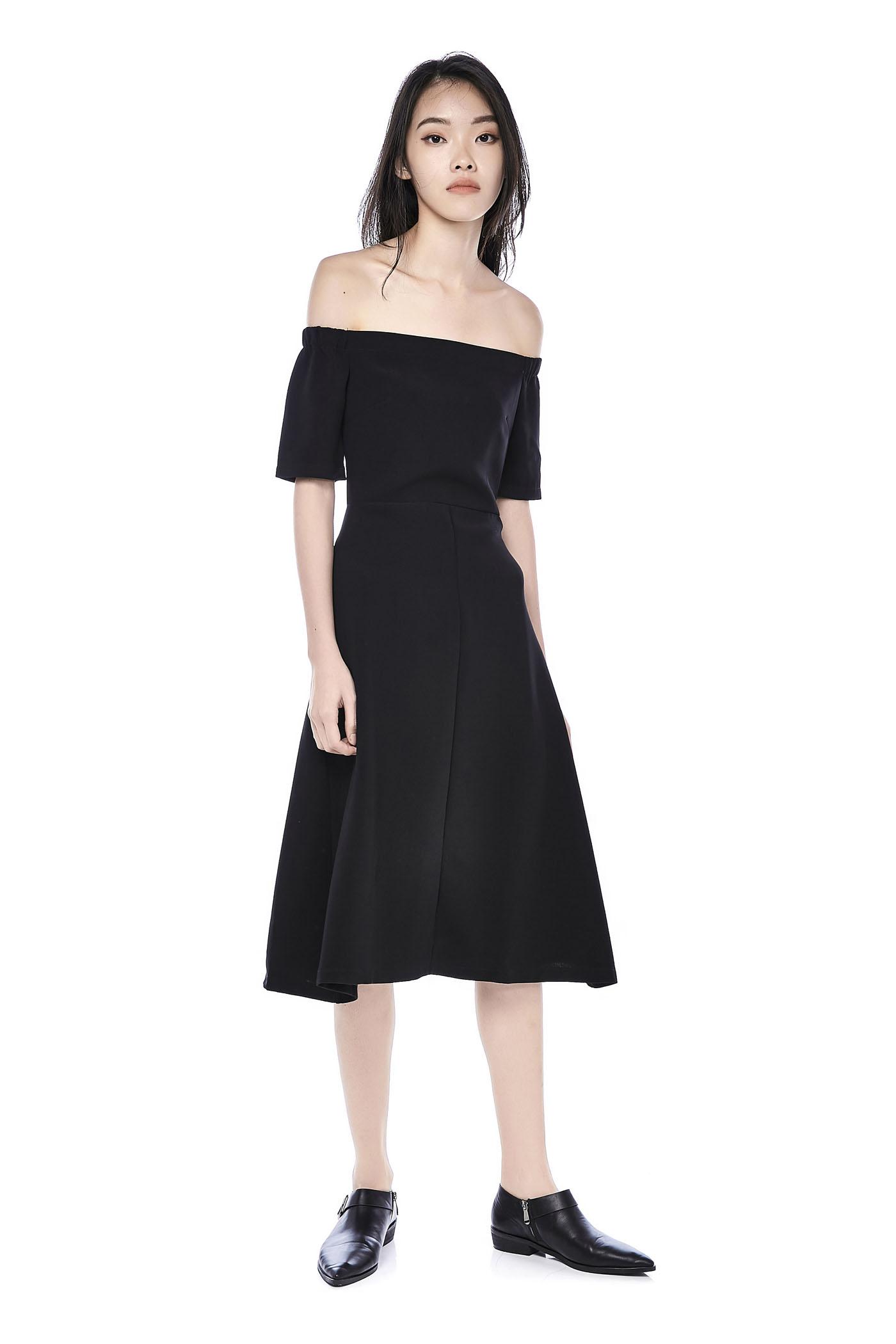 8e83016ca791 Jacelyn Off-shoulder Midi Dress