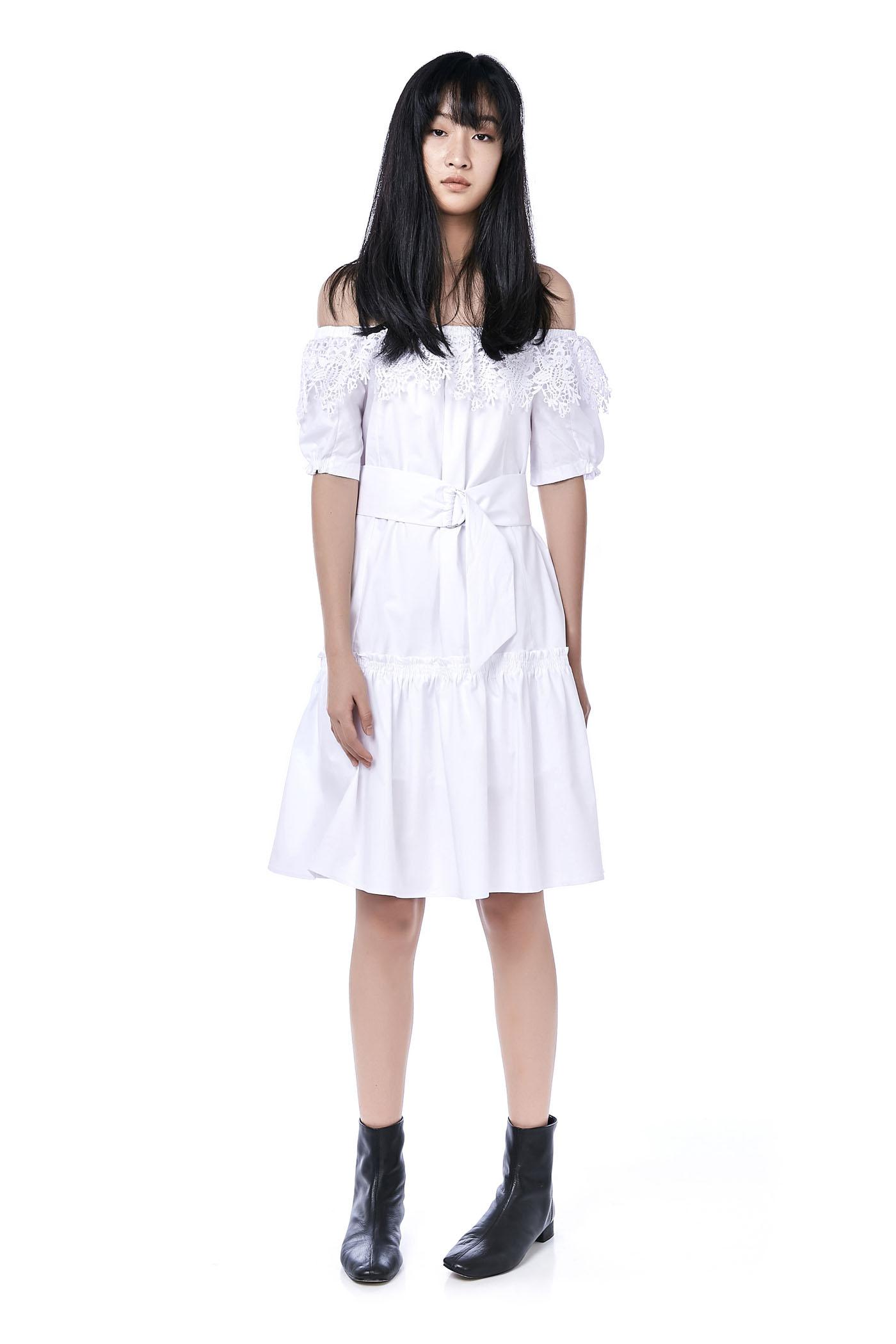 Haycal Crochet Off-Shoulder Dress
