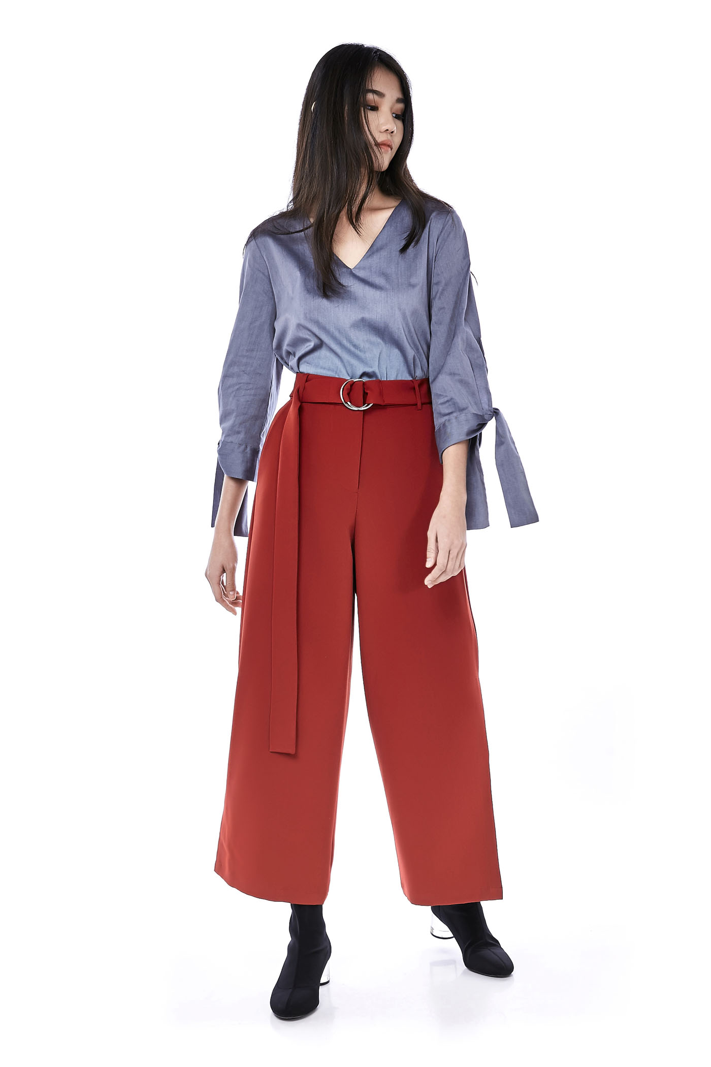 Amber Belted Wide-Leg Pants