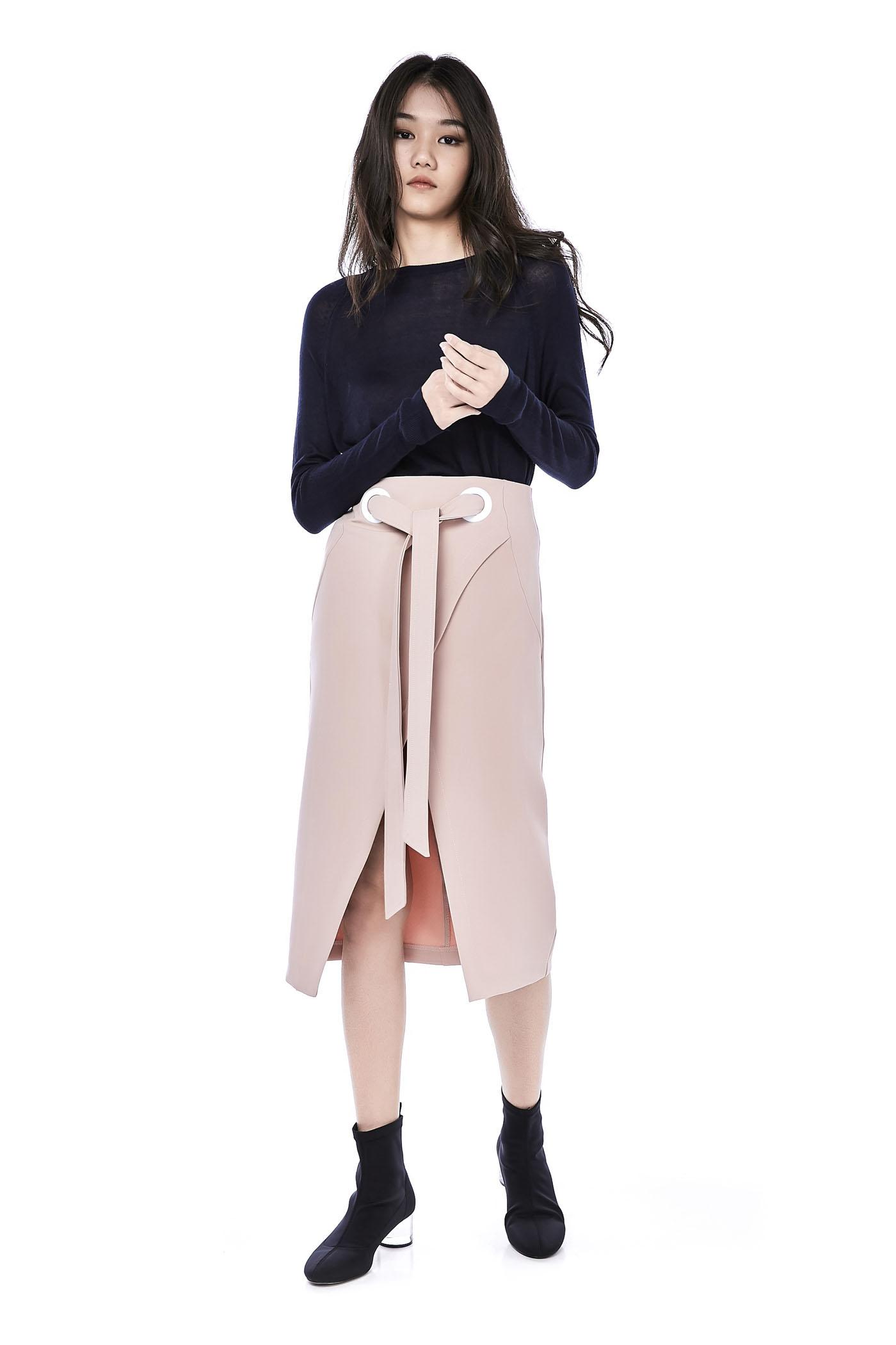 Lornie Overlap Skirt  998e191b45