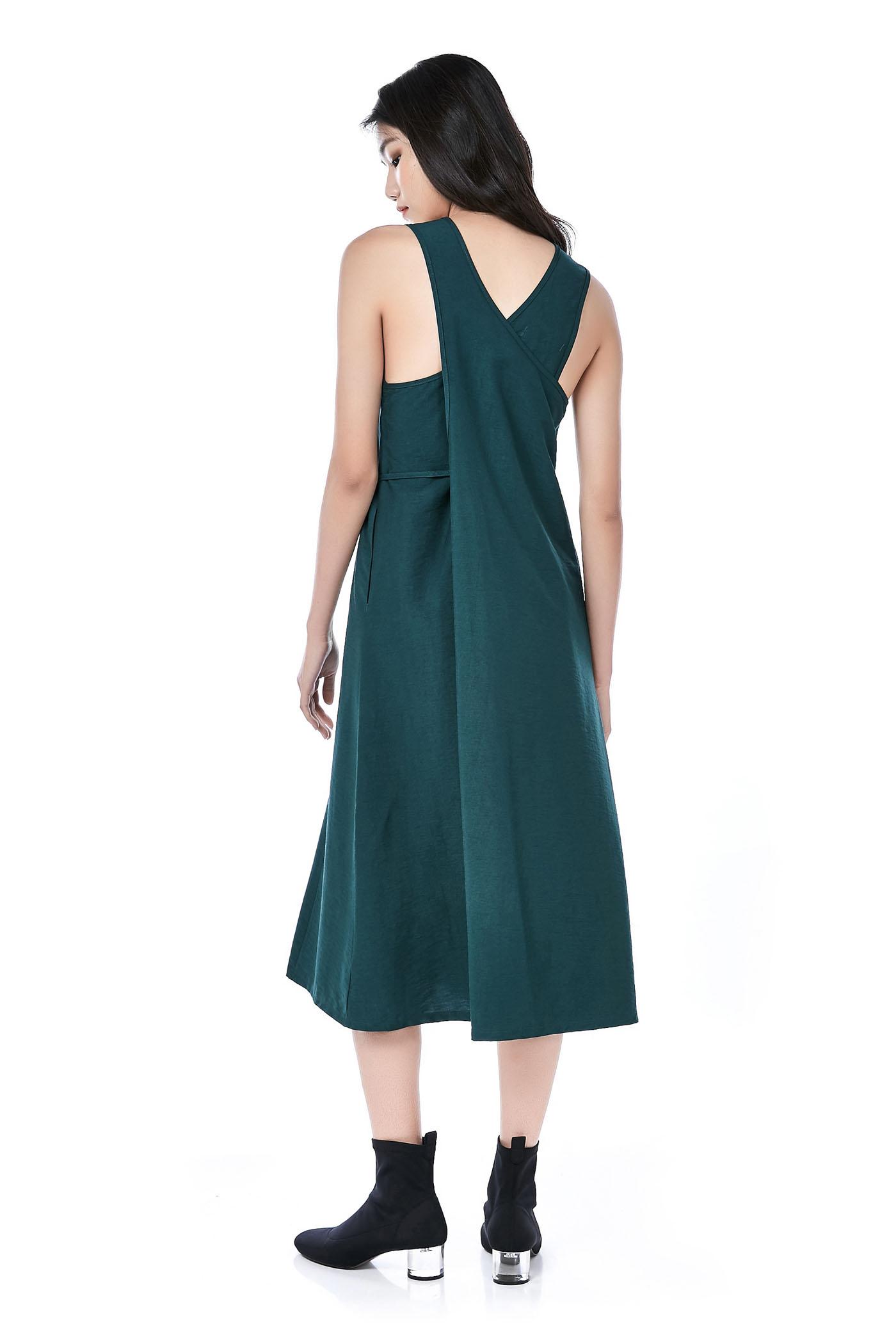 437c4af492f Laelia Cross-Back Midi Dress