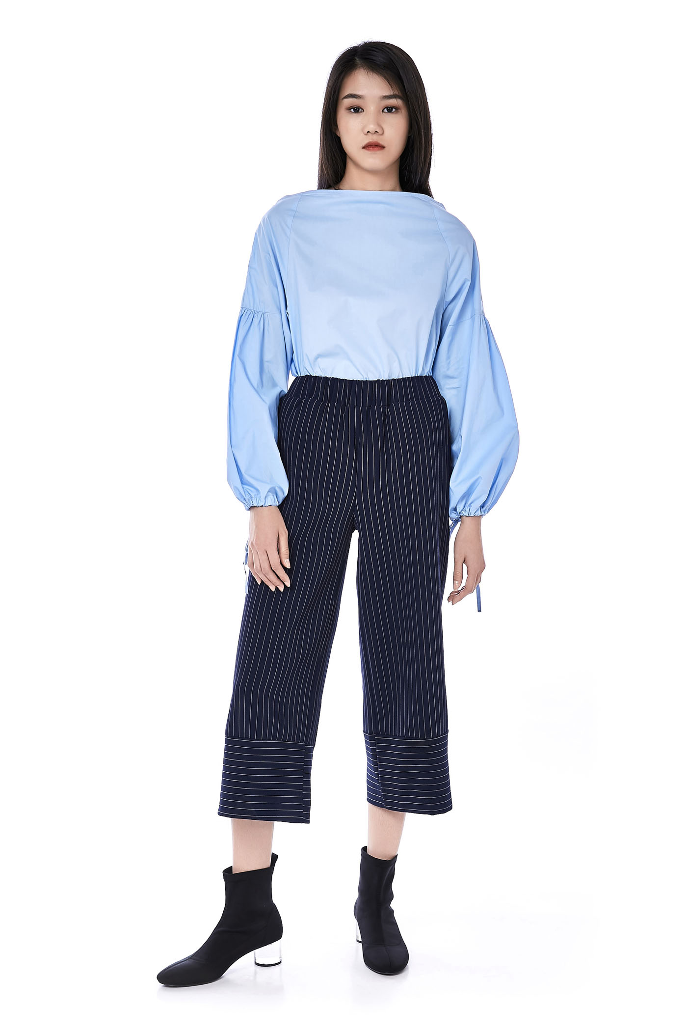 Ansel Ruched-Sleeve Top