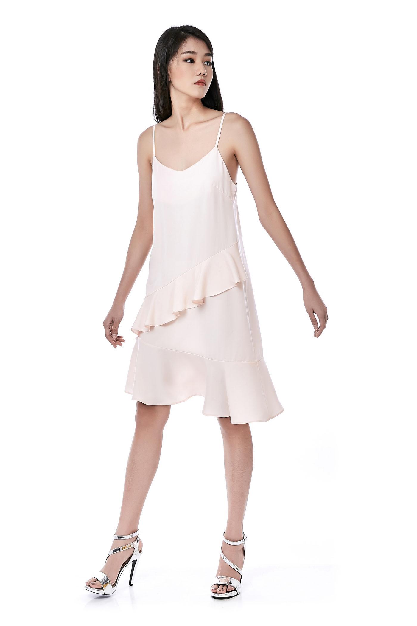 Fraunia Ruffle-trim Midi Dress