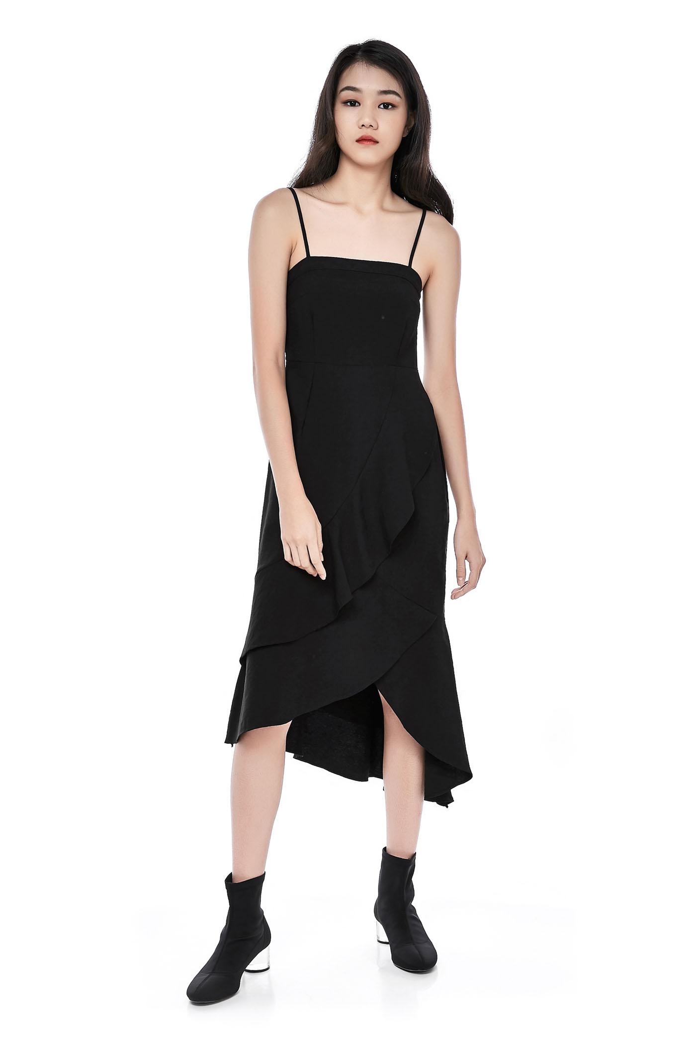5f24ed6bda Leonie Ruffle Midi Dress