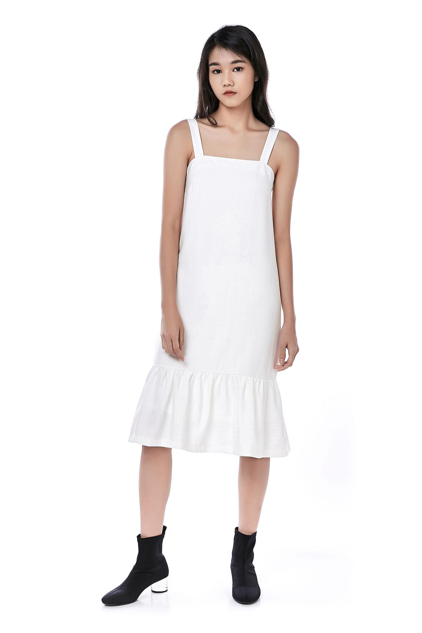 10dbac960d Melcho Ruffle-Hem Midi Dress