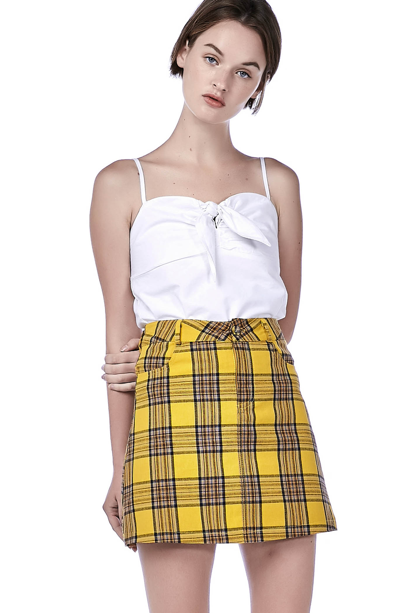 038ddbee6e058a Meara Front-Tie Crop Top | The Editor's Market