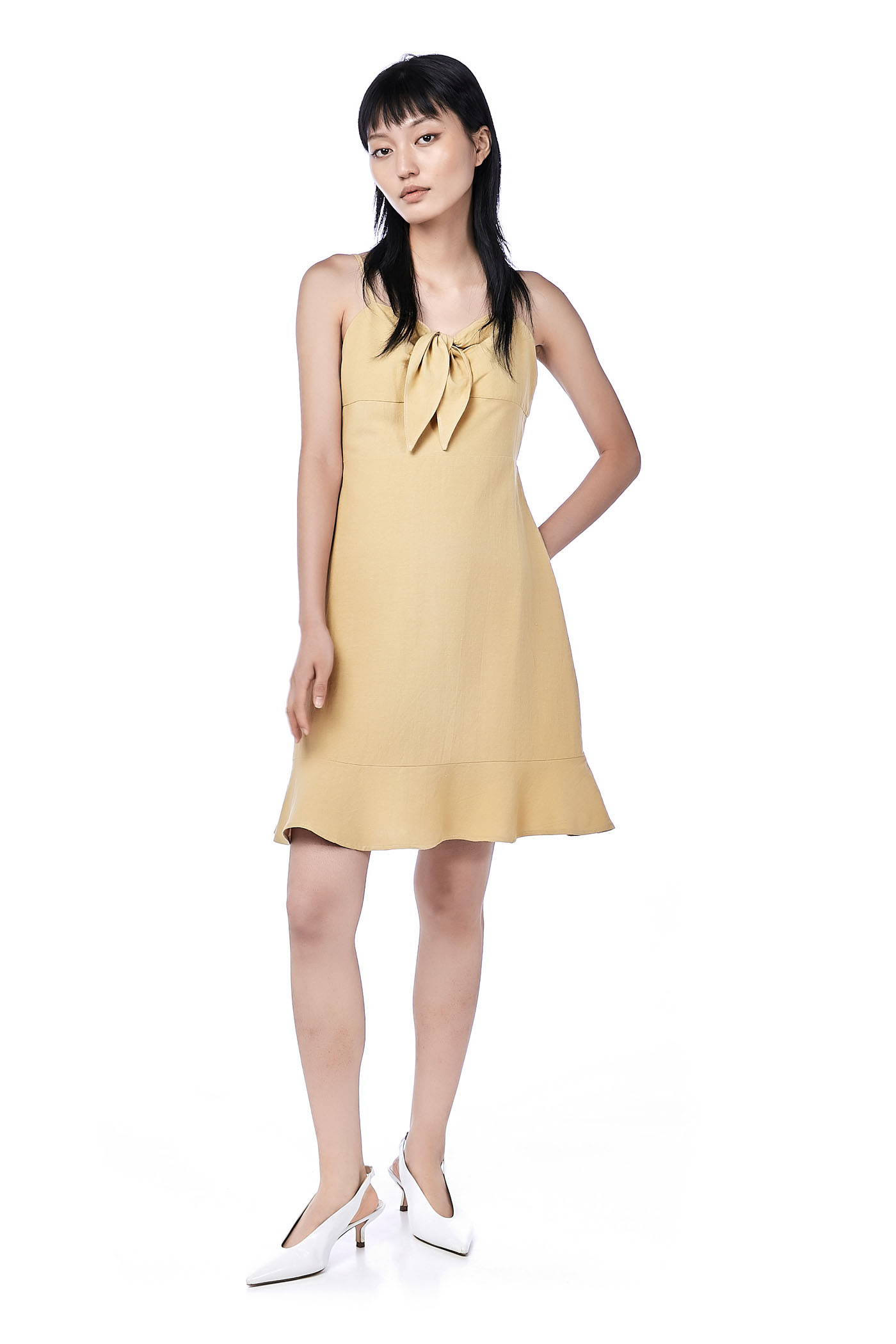 4cfab27e50 Aria Front-Tie Fitted Dress