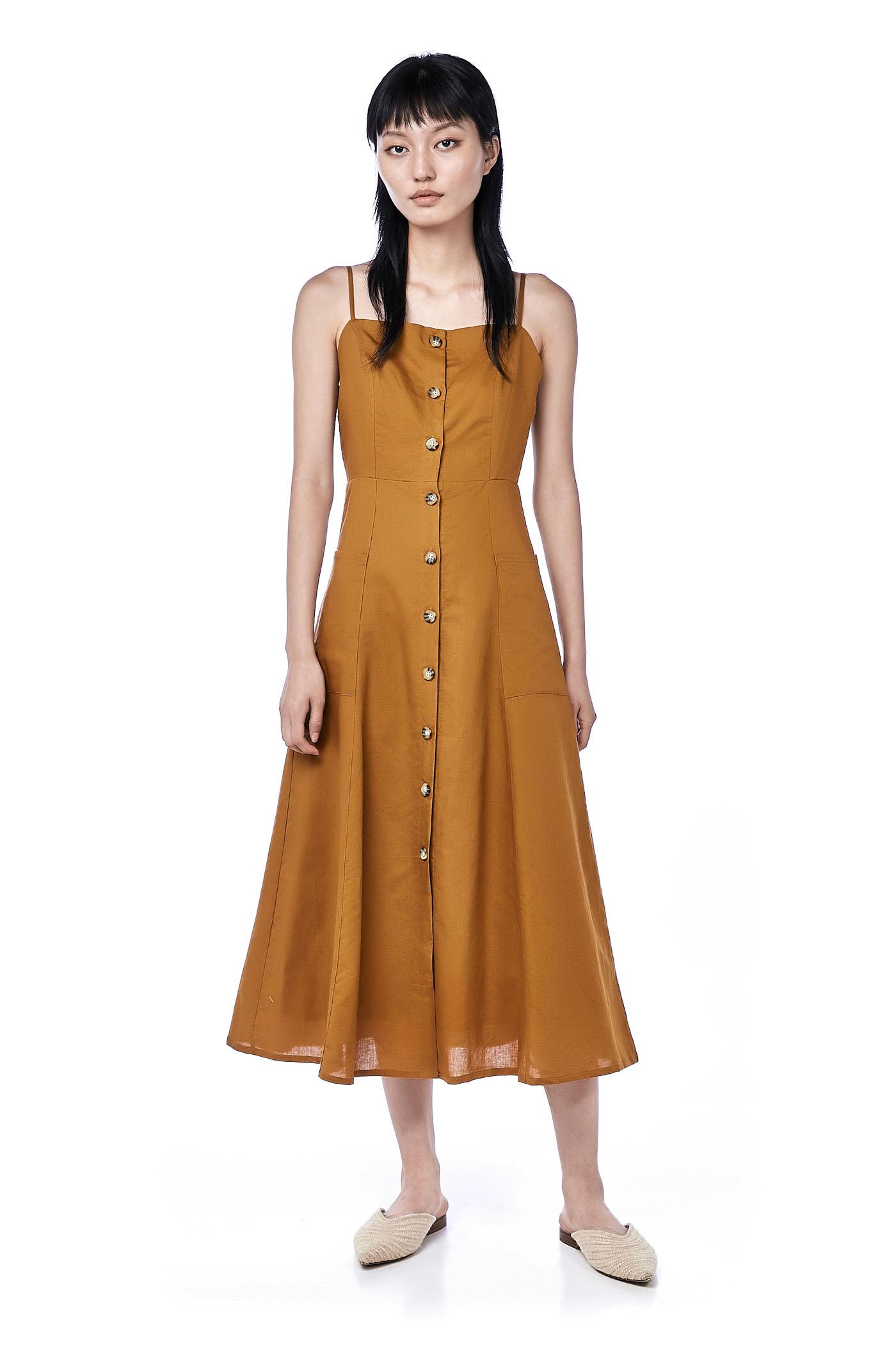 88ec91ee67 Raisa Button-Down Midi Dress