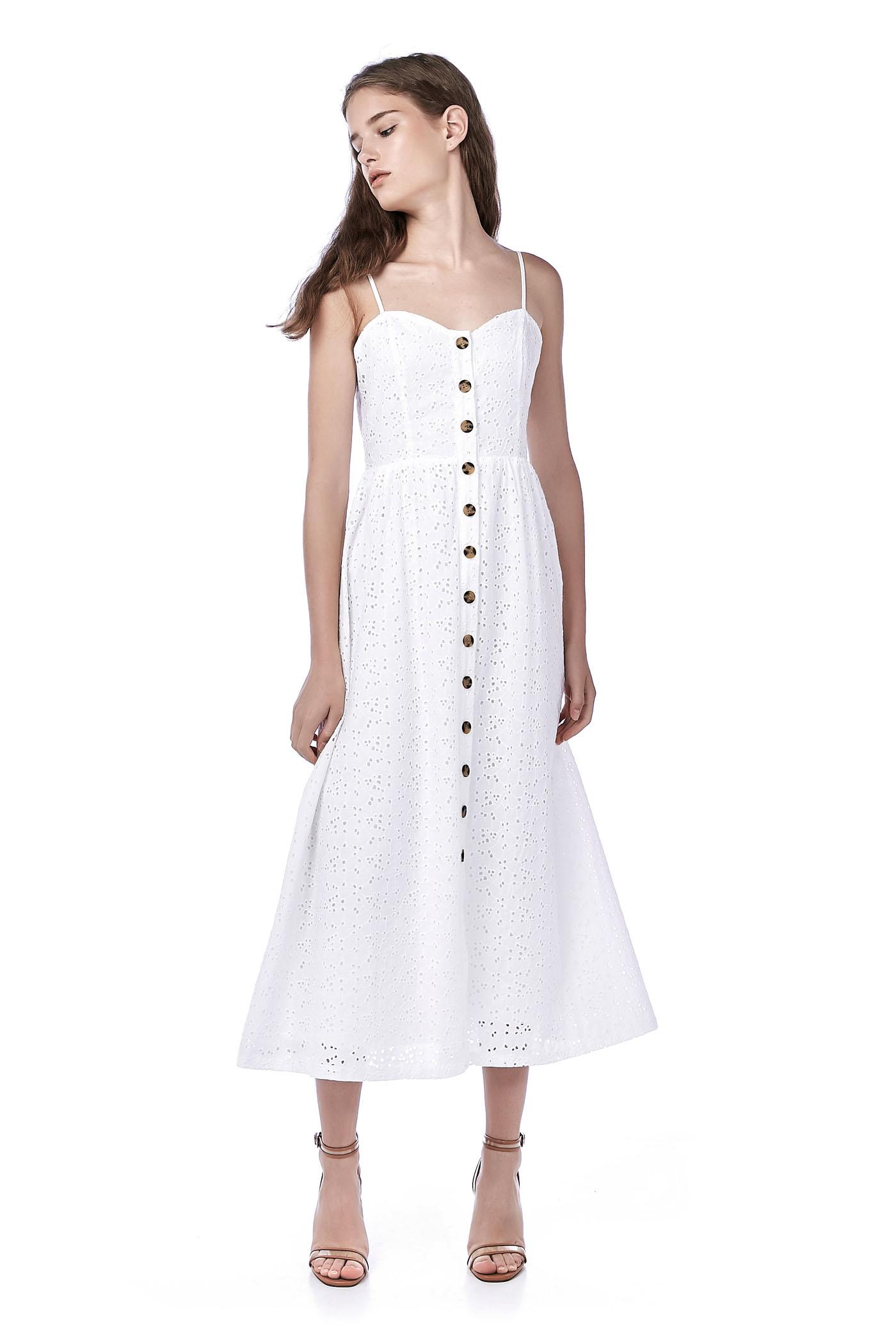e20c698e5ea Carlisa Eyelet Maxi Dress