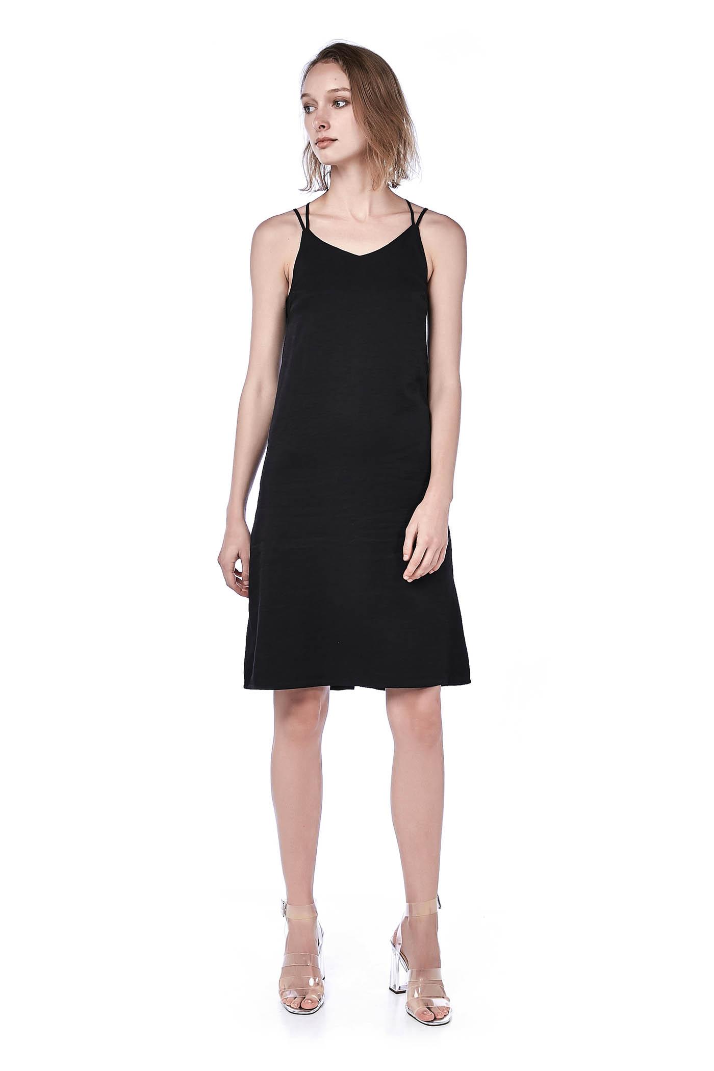 8facfff7e1 Rusila Cross-Strap Midi Dress