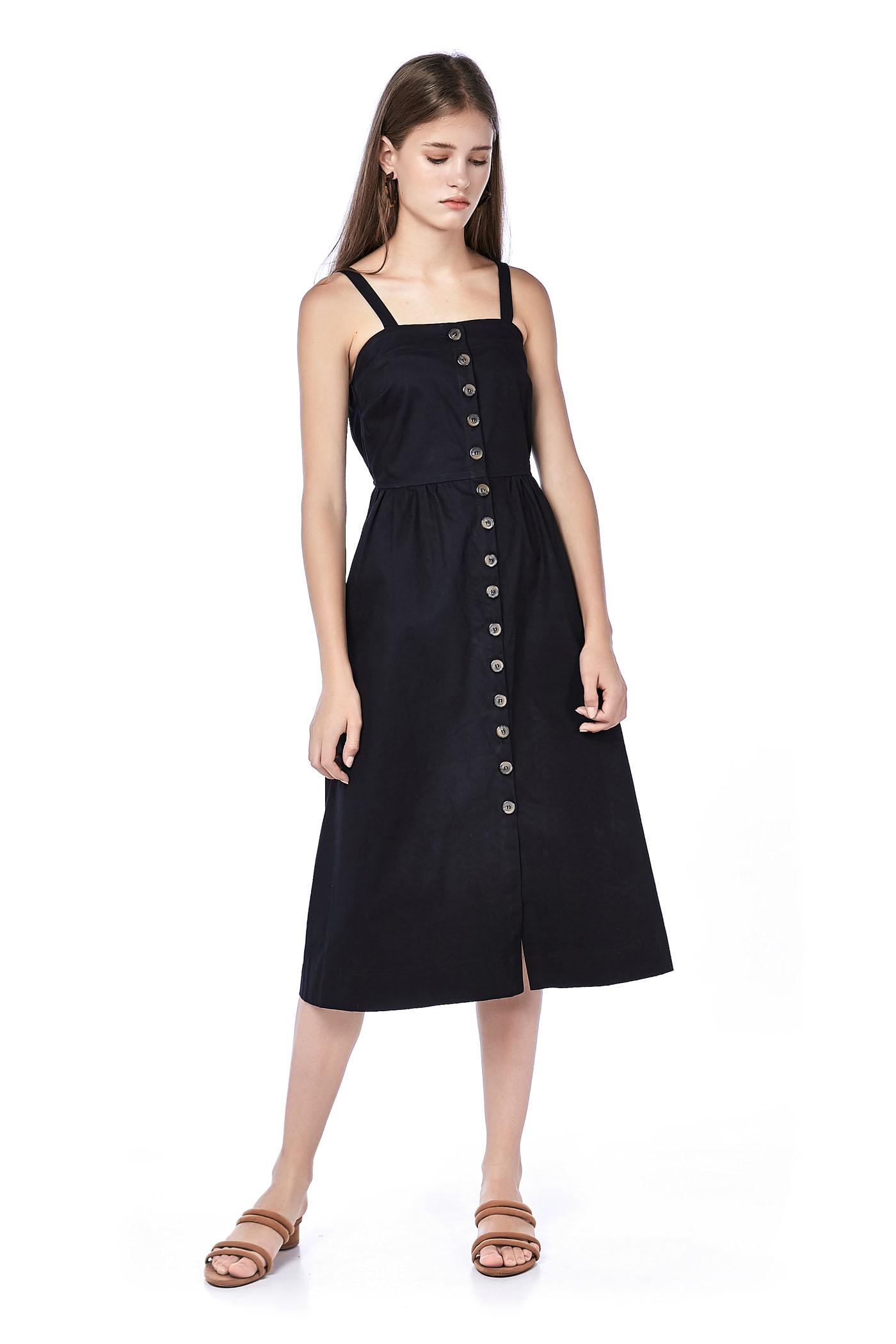 bbf9ebc2fd Aryas Button-Through Midi Dress