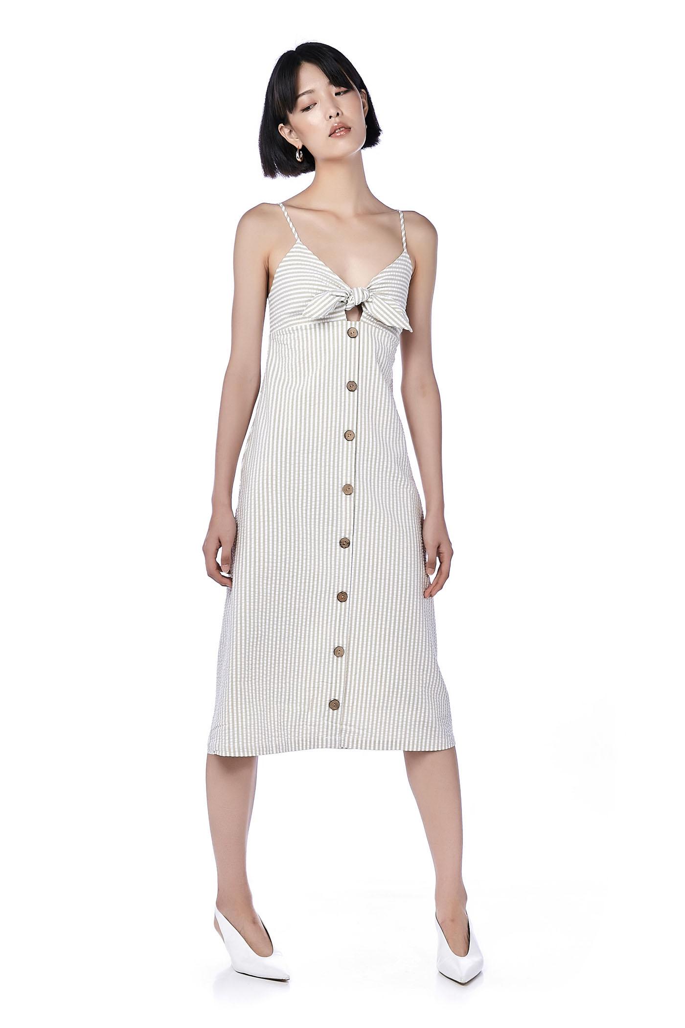 983b5a86d8c Daisy Front-Tie Midi Dress