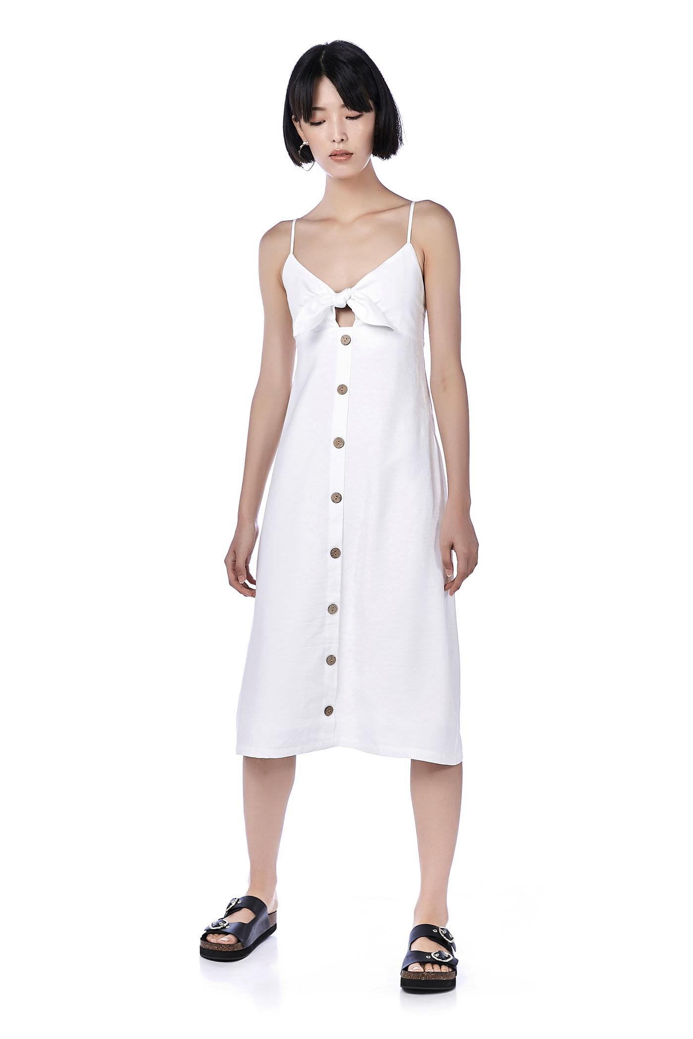 79465d6ac7 Daisy Front-Tie Midi Dress