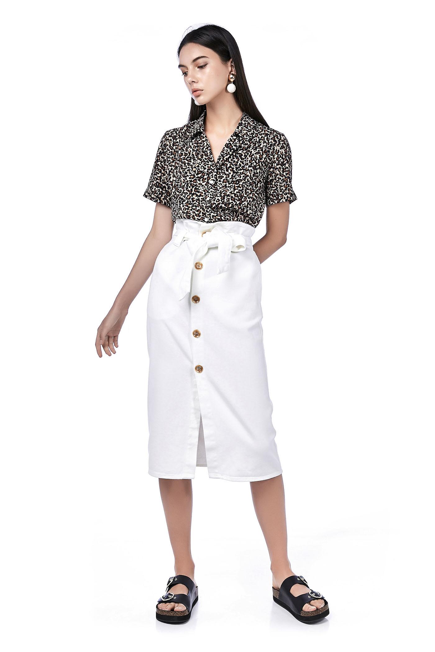 7f6f28bc7 Harlia Paperbag Midi Skirt | The Editor's Market