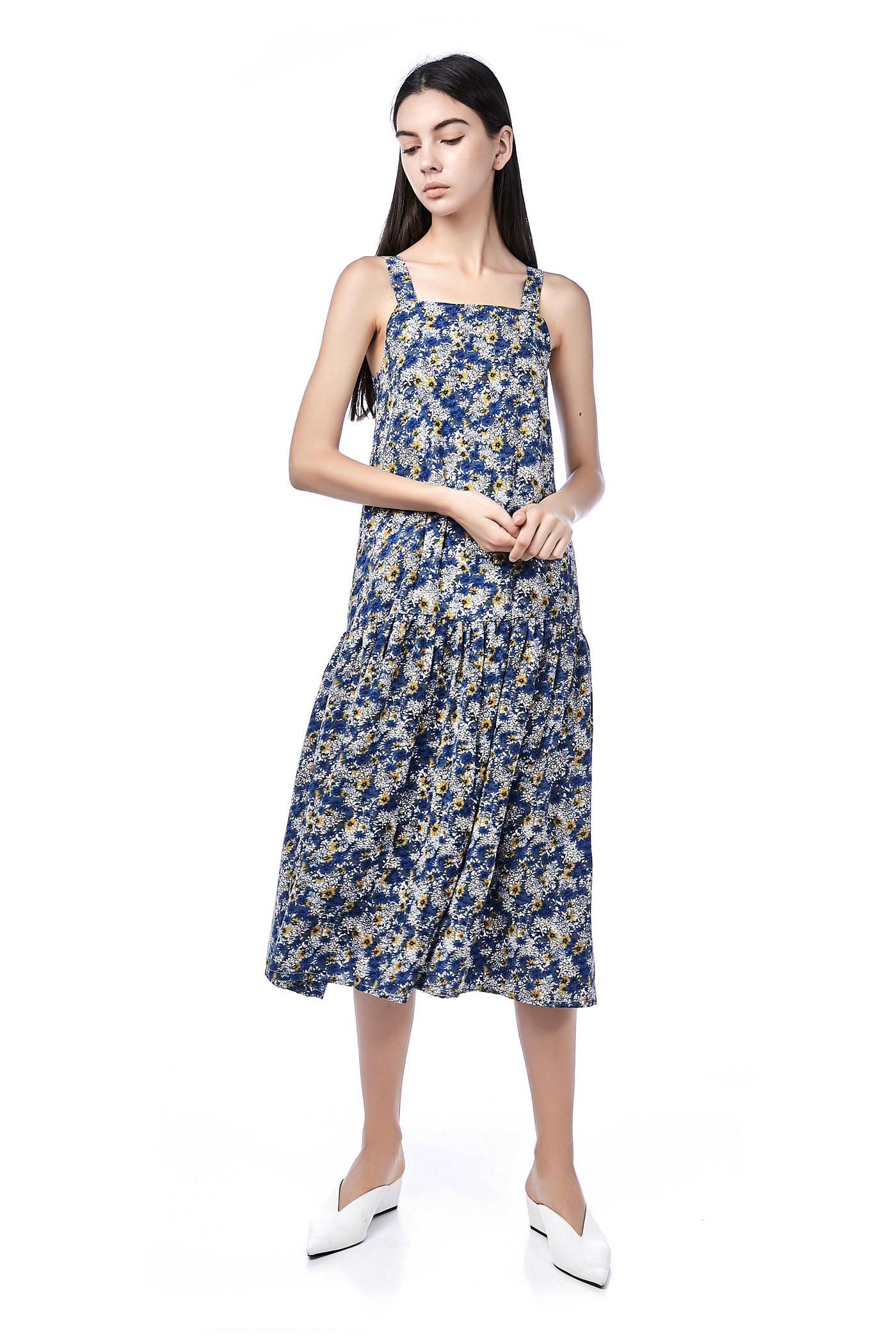 80b10ac4b0 Mailyn Drop-Waist Maxi Dress