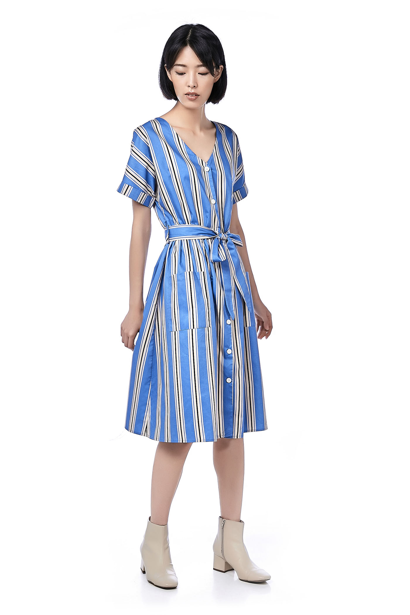 8a26dbbdd72 Fernanda Stripe Midi Dress