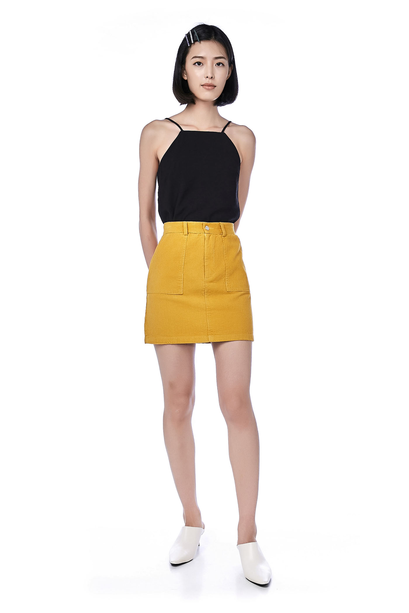 eb63edf06cb13d Gela Corduroy Mini Skirt | The Editor's Market