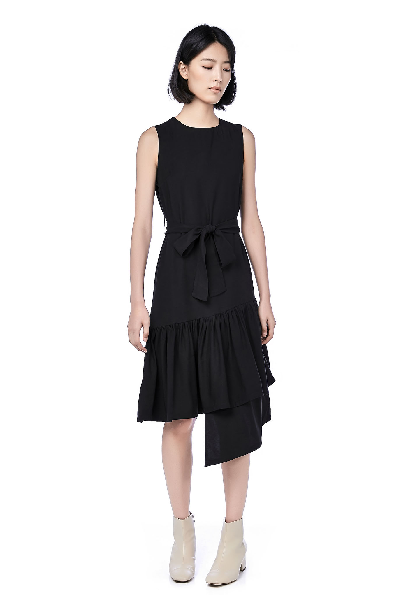 c0cfab231 Mary Asymmetric-Hem Midi Dress | The Editor's Market