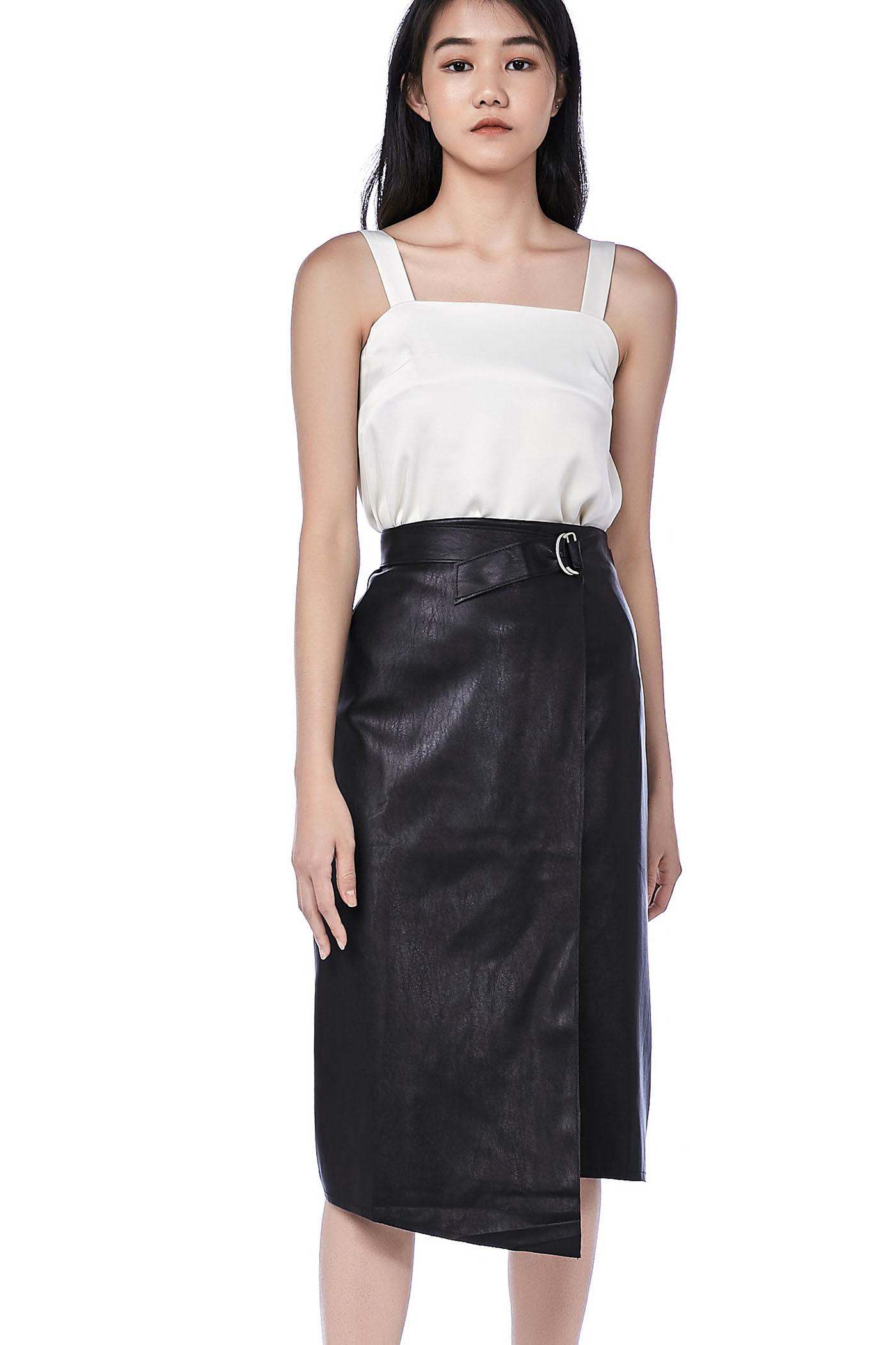 35d0c1b7f Leanor Asymmetrical Belted Skirt   The Editor's Market