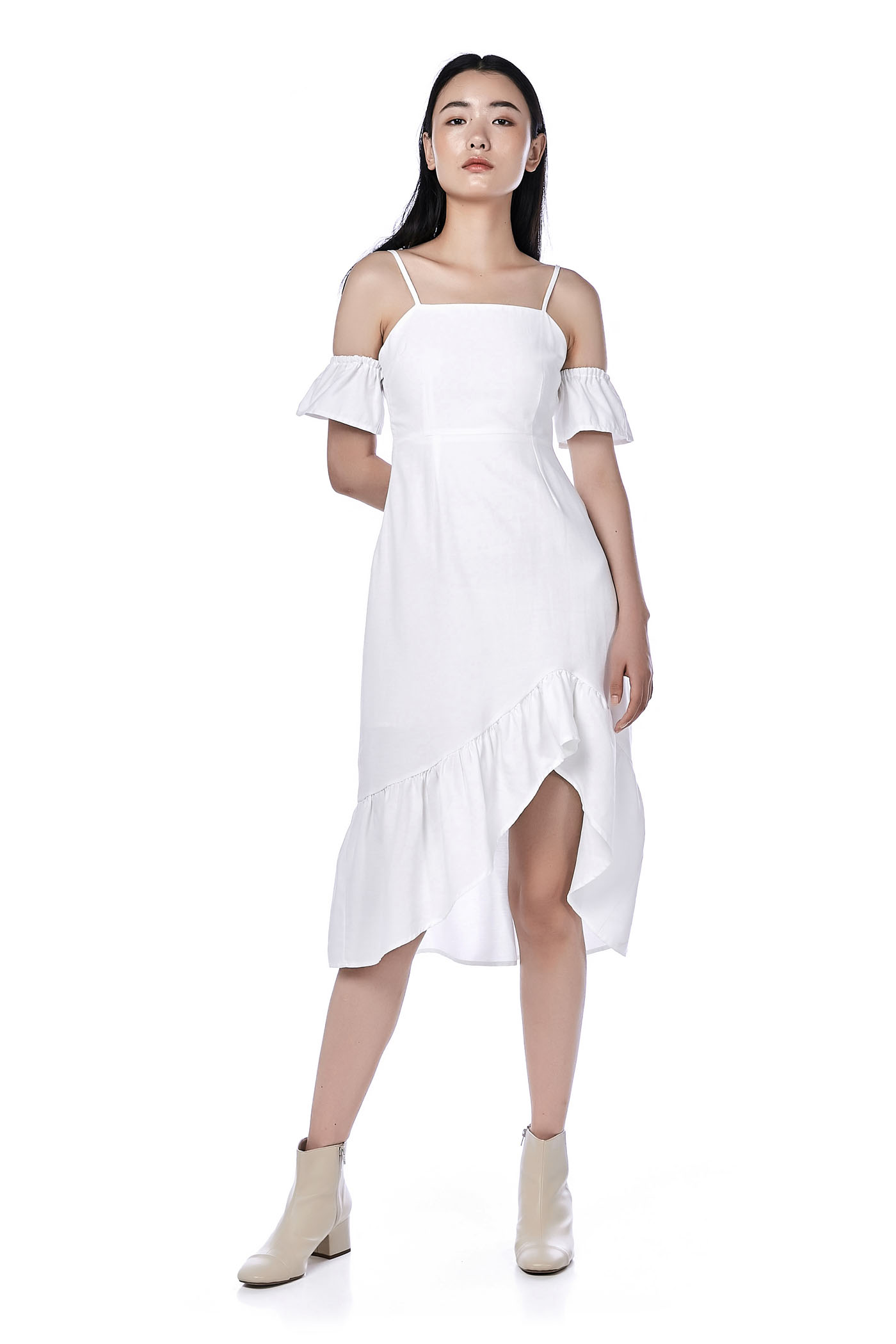 Wrenn Cold-Shoulder Dress