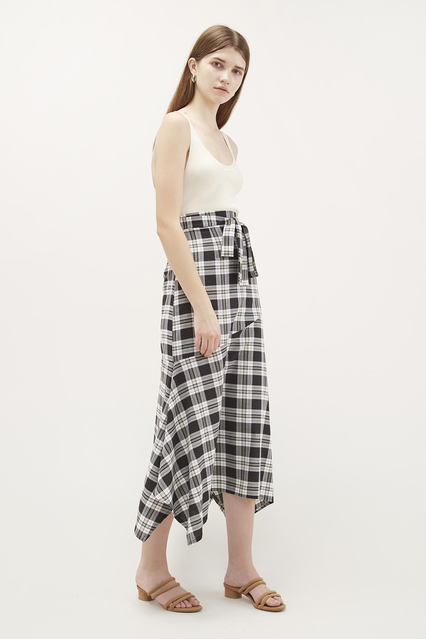 Xara Hanky-Hem Skirt