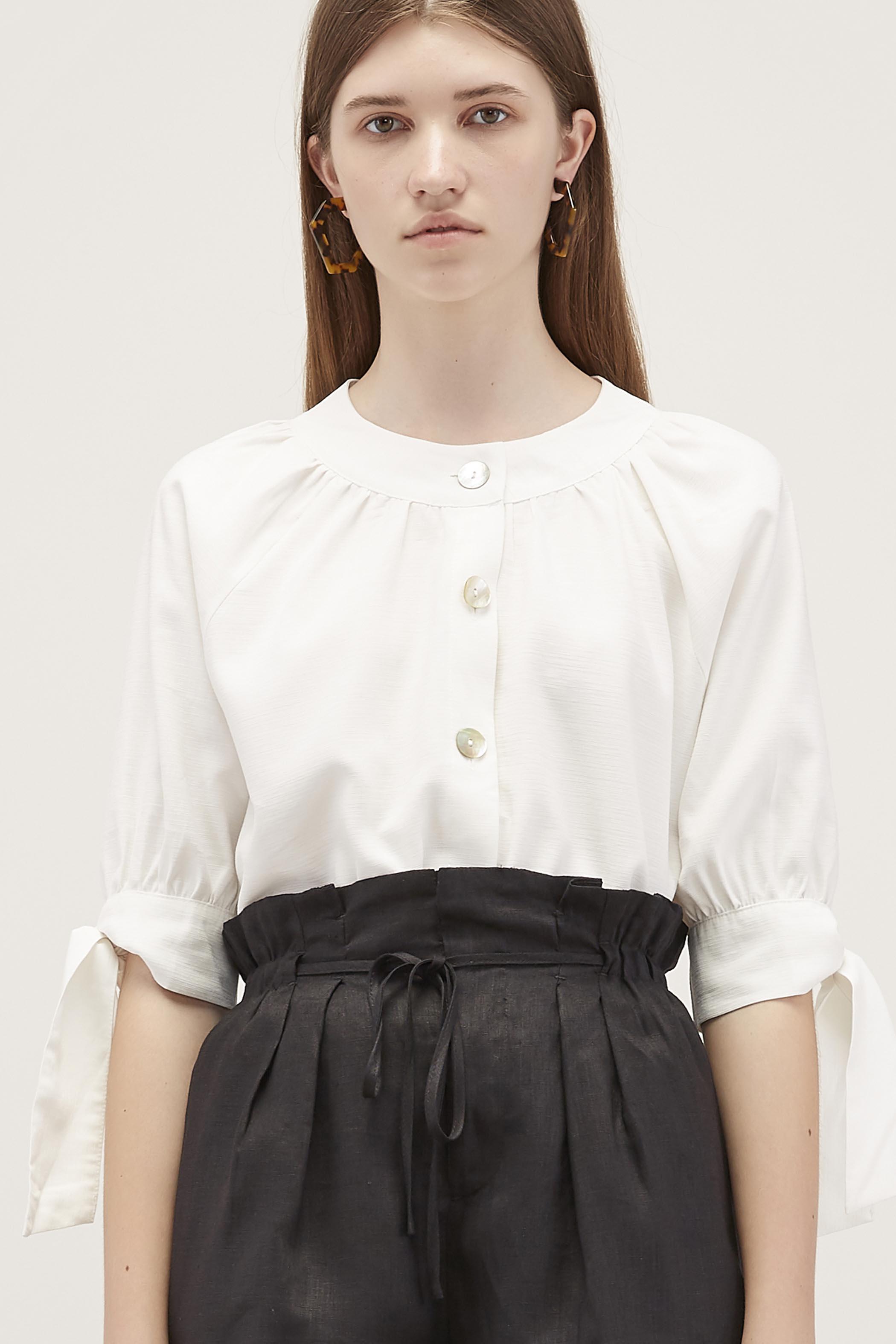 Nala Ring-Collar Blouse