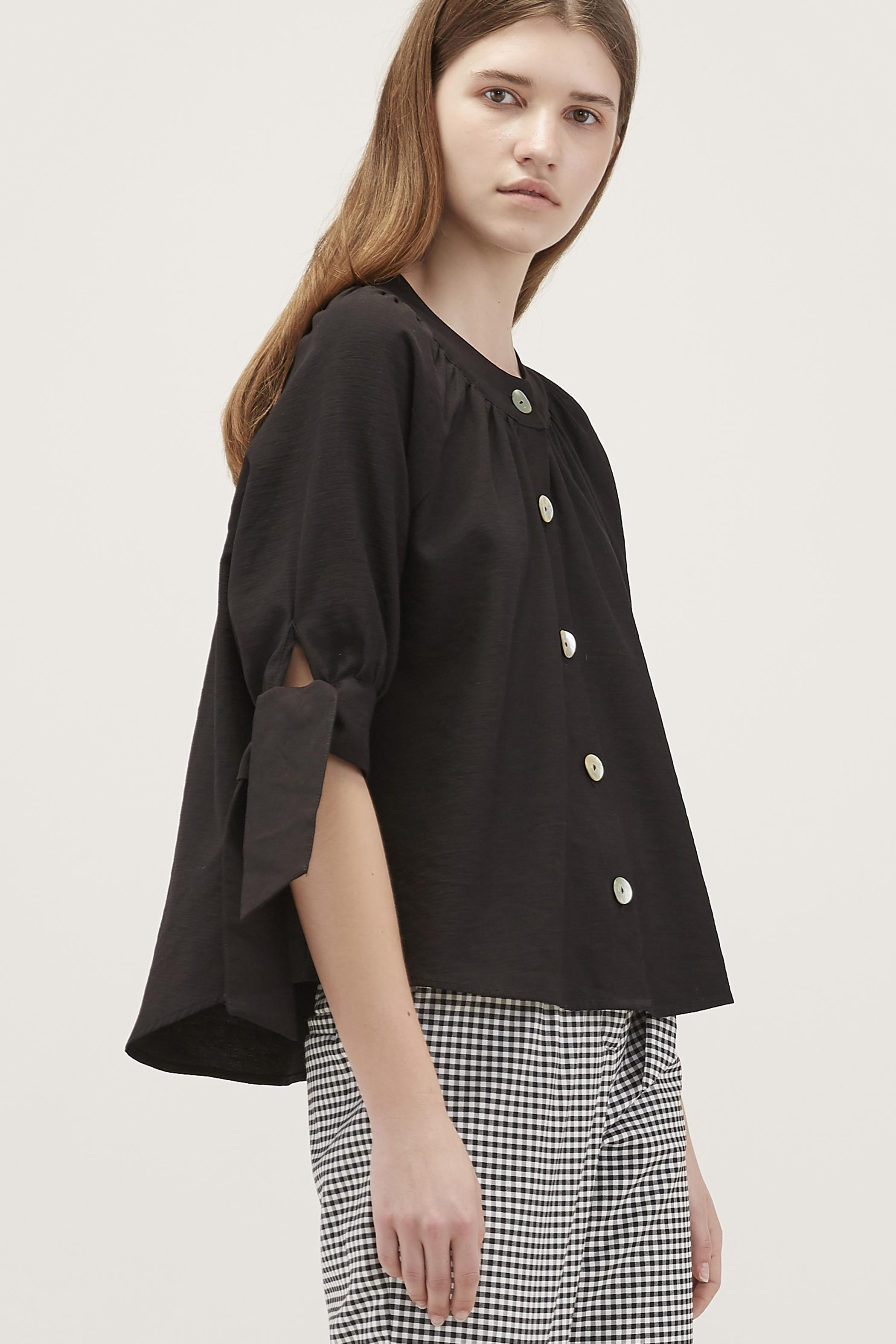 Nala Ring-Collar Blouse
