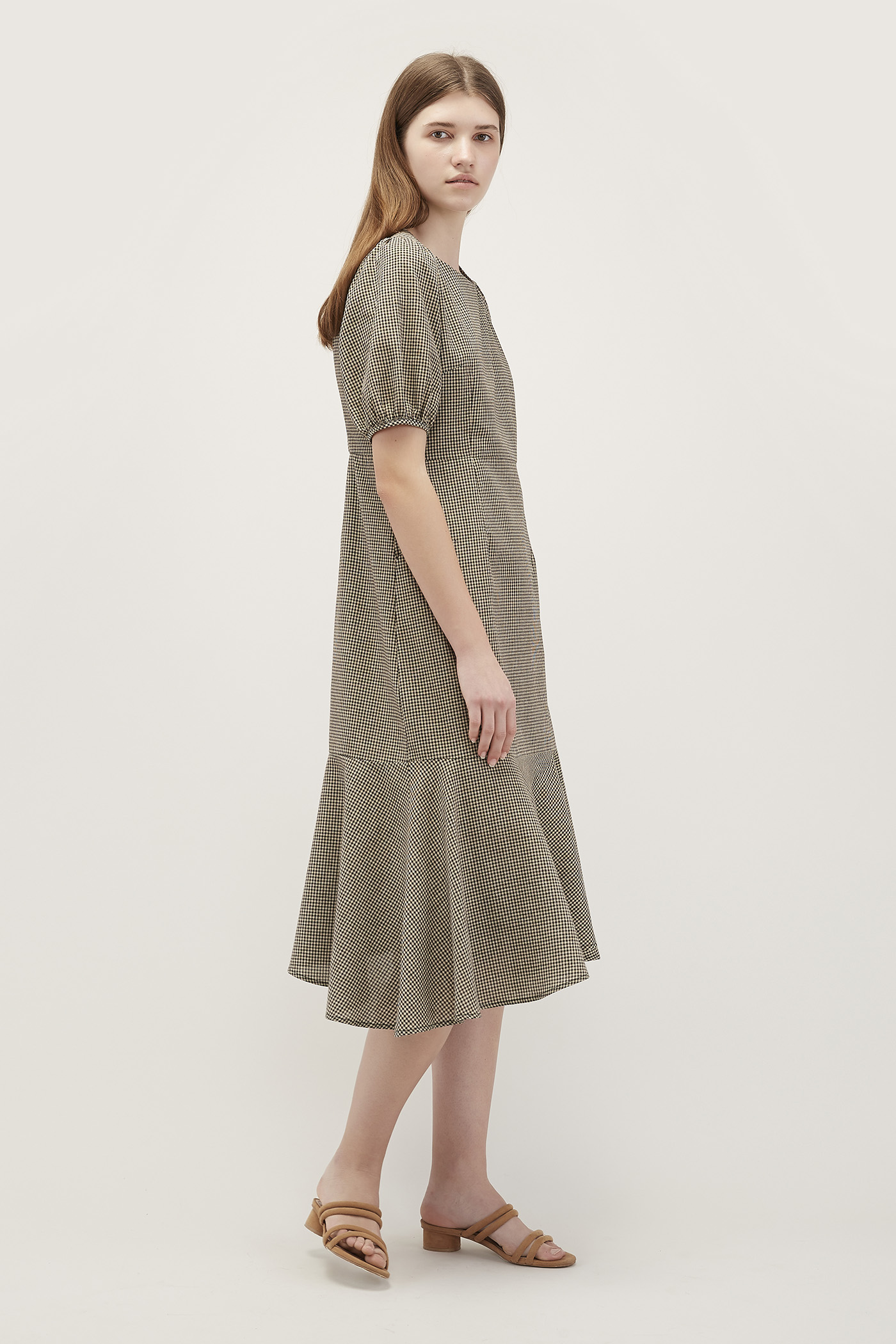 Louisa Wave-Hem Dress