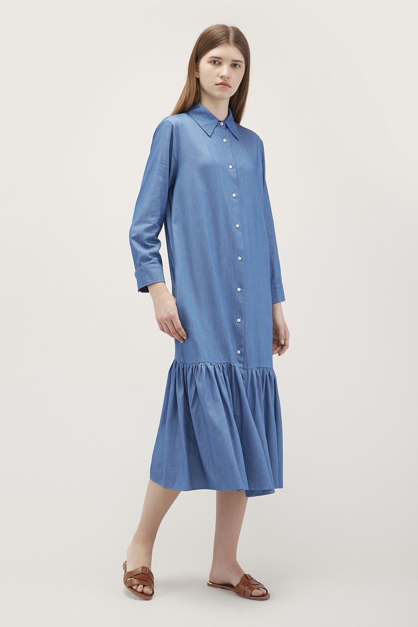 Fluera Frill-Hem Dress