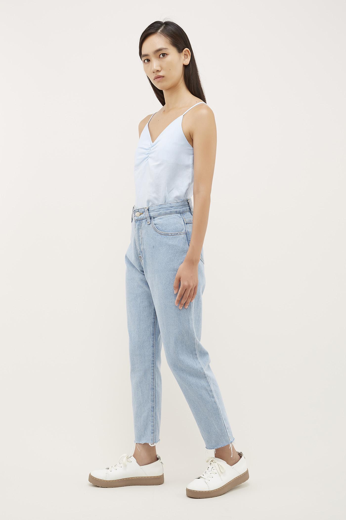 Kiiara Frayed-Hem Jeans