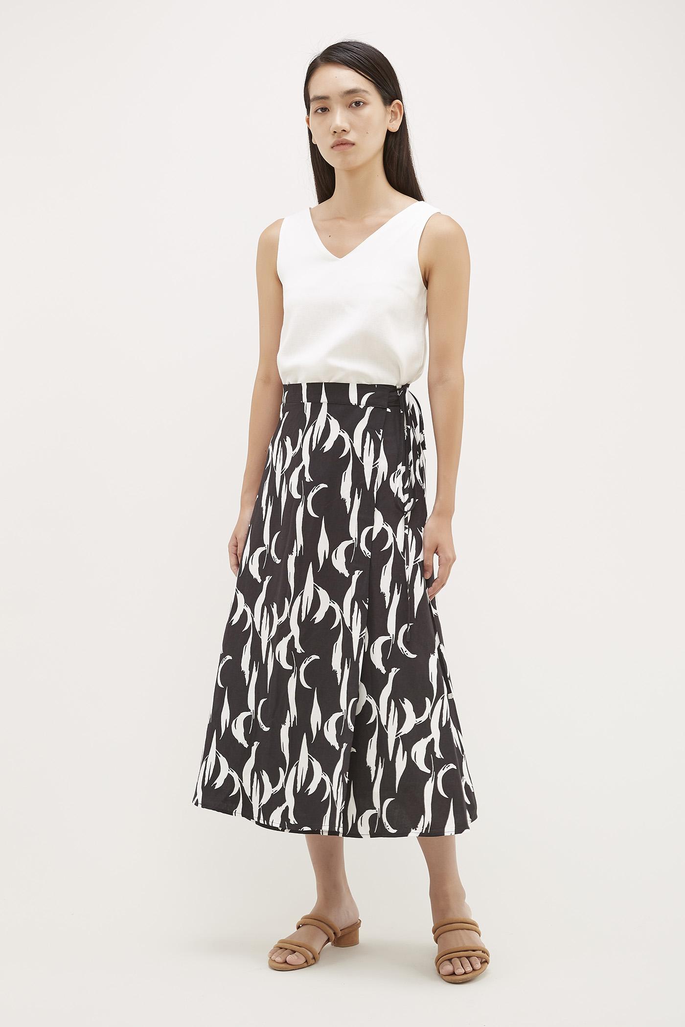 1ede550e086 Ruffle Wrap Denim Skirt - Data Dynamic AG