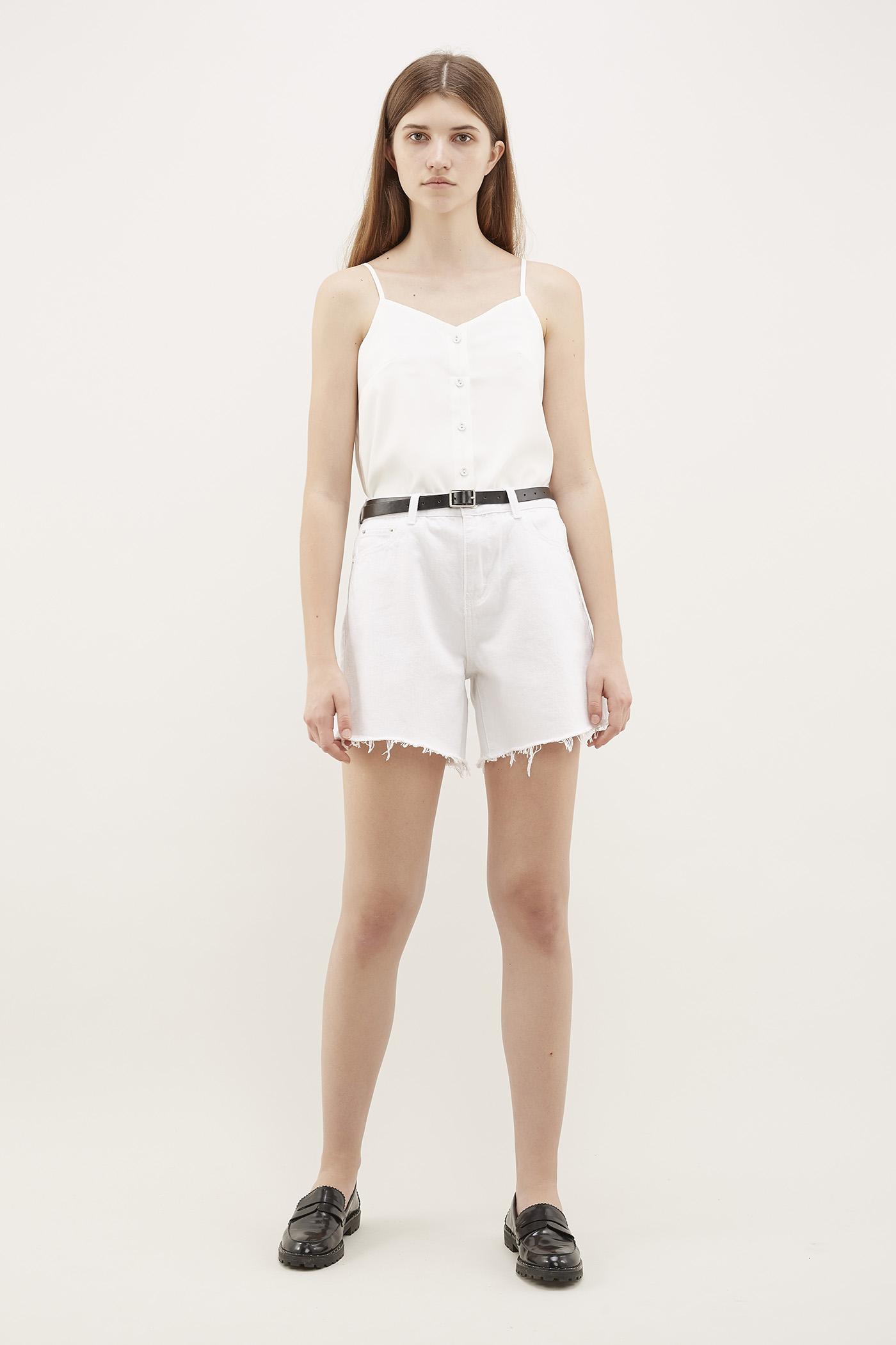 Aleph Frayed-Hem Shorts