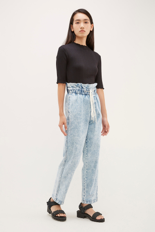 Darena Gathered-Waist Jeans