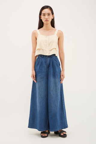 Nevata Wide-leg Denim Pants