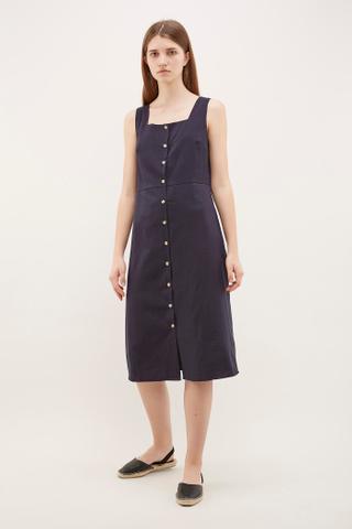 Chela Square-Neck Midi Dress