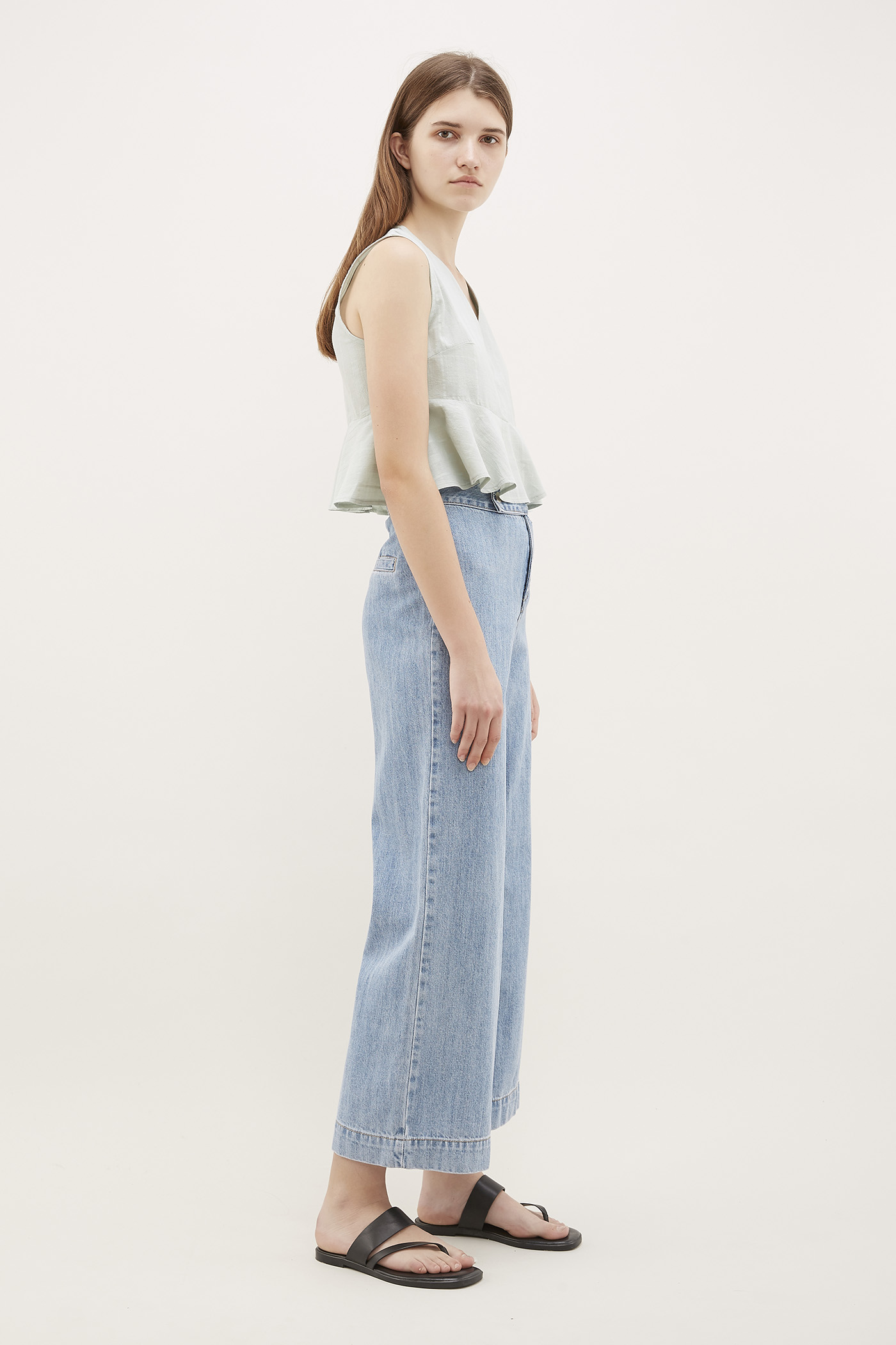 Bobbi Frill-Hem Crop Top