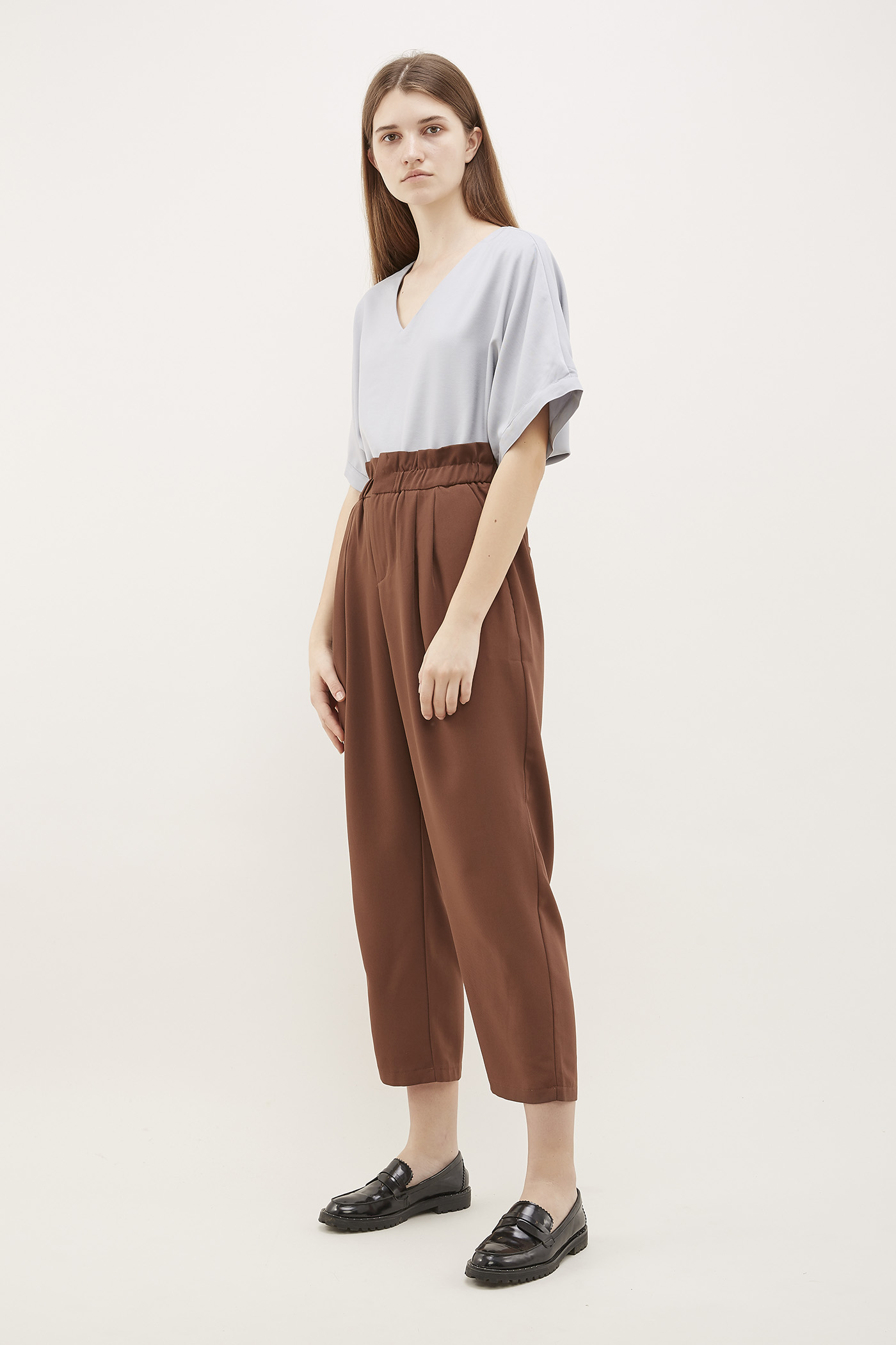 Kensie Gathered-Waist Pants
