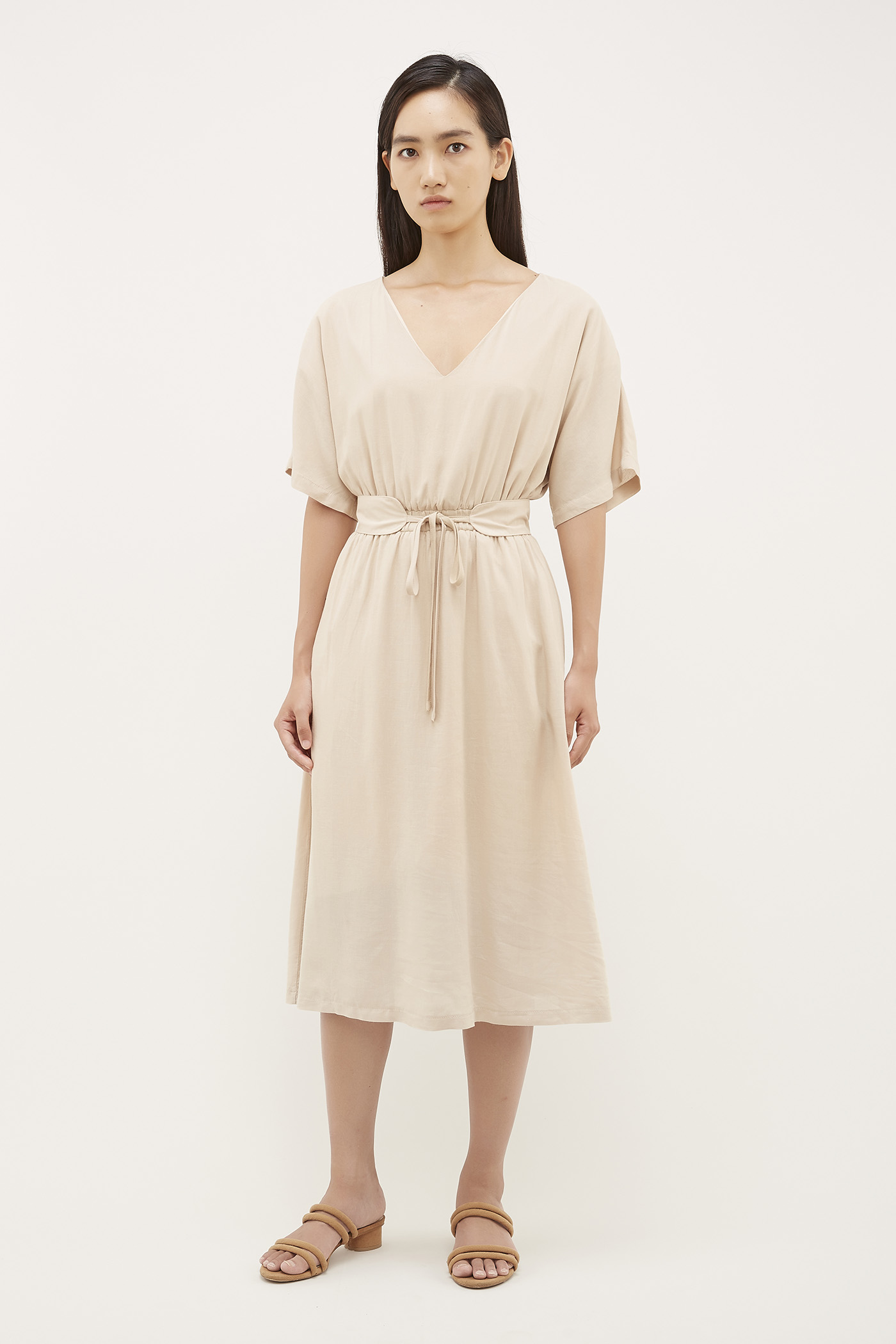 Sayen Gathered-Waist Dress