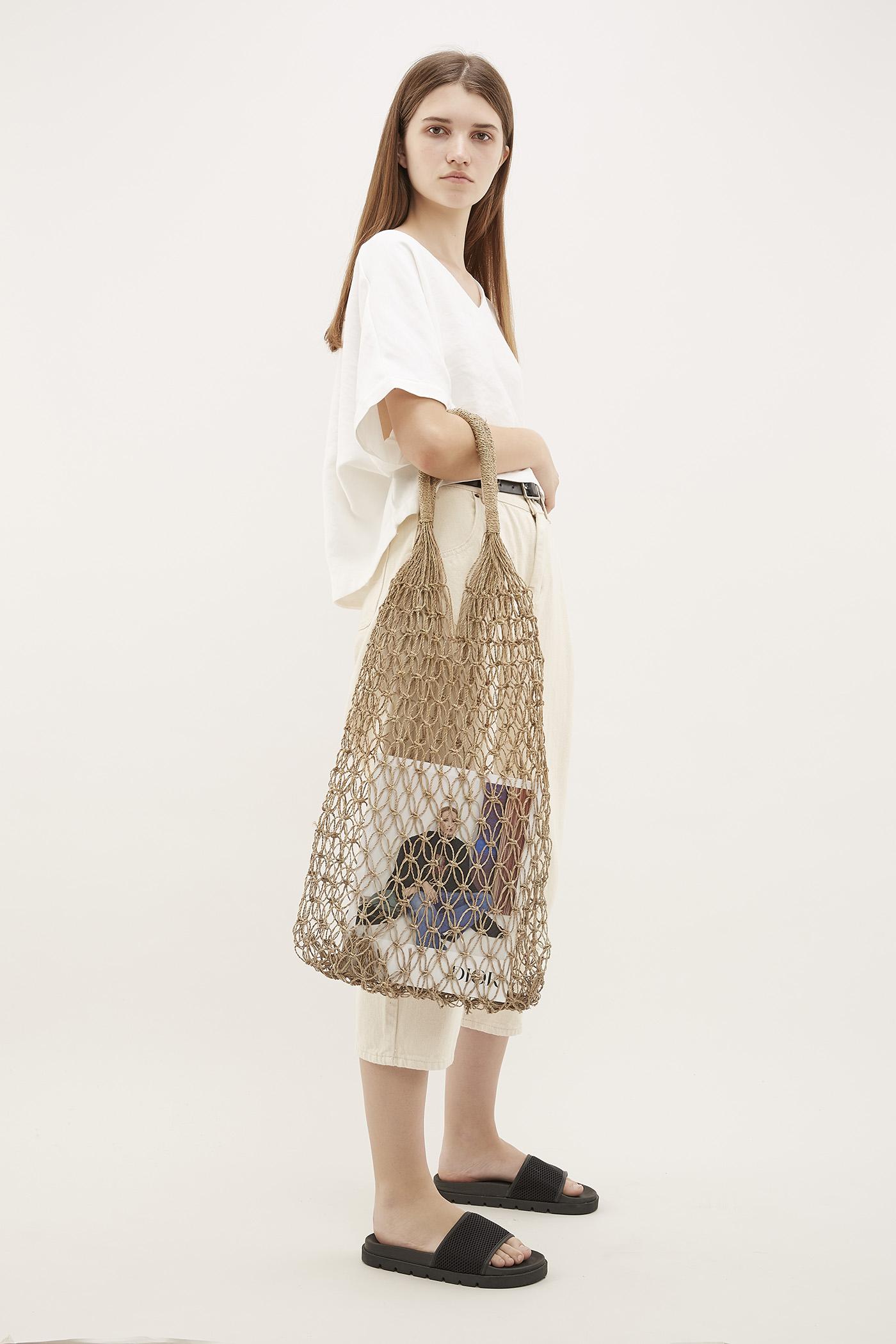 Sia Straw Weave Top-Handle Bag