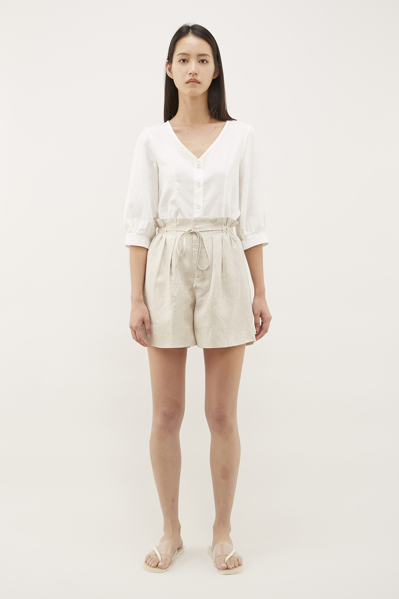 Carlos Pleated-Waist Shorts