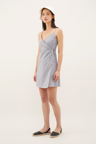 Tara Wrap Mini Dress