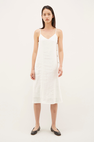 Narain Side-Button Slip Dress
