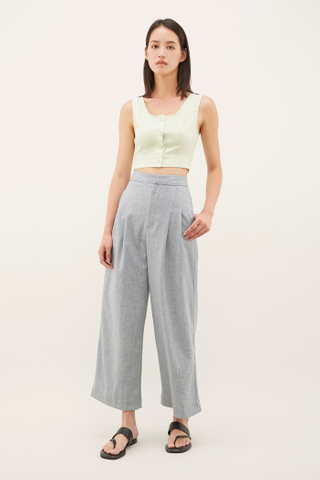 Prina Button-Through Crop Top