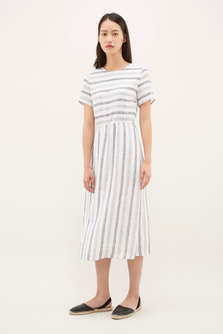 Sharla Gathered-Waist Dress