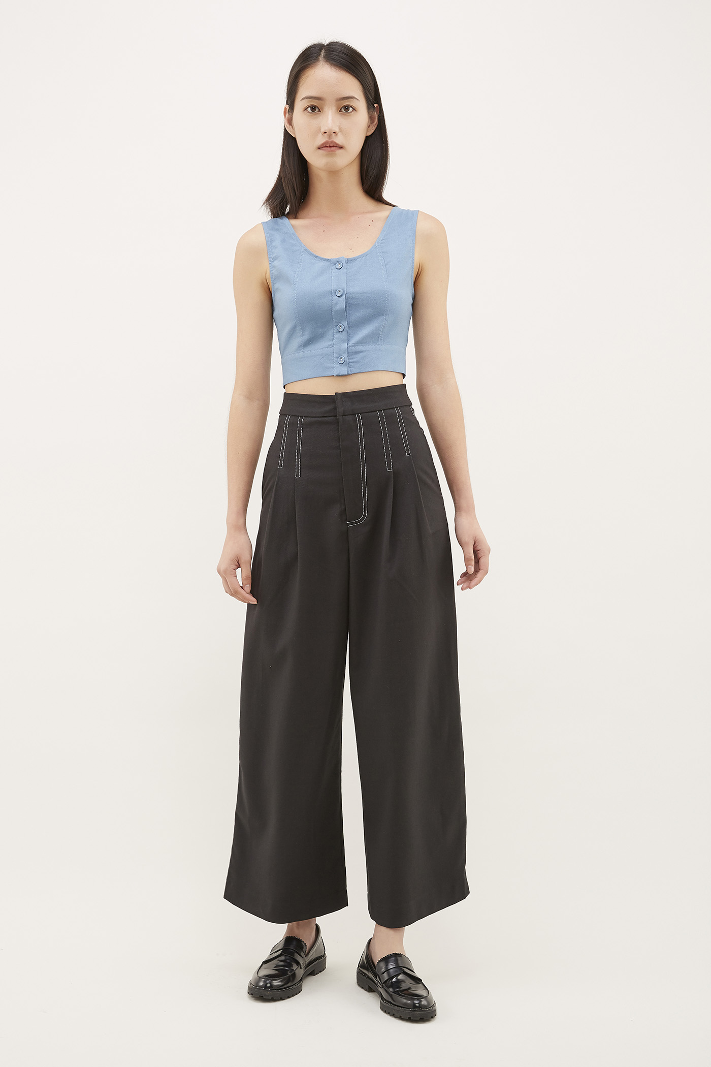 Raysha Top-Stitch Trousers
