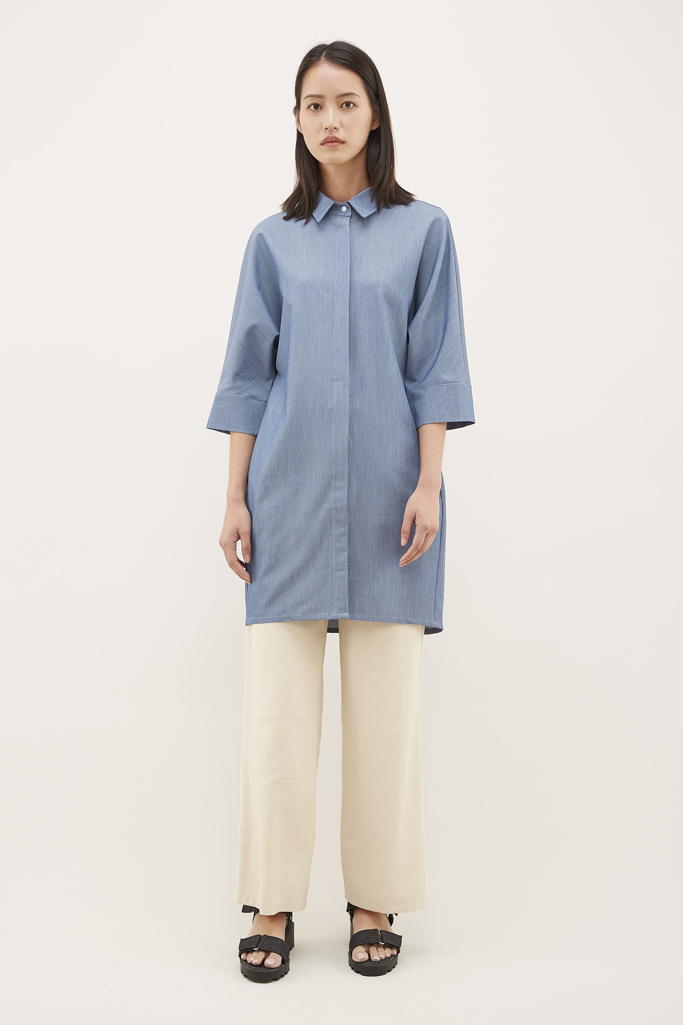 Phias Chambray Oversized Shirt