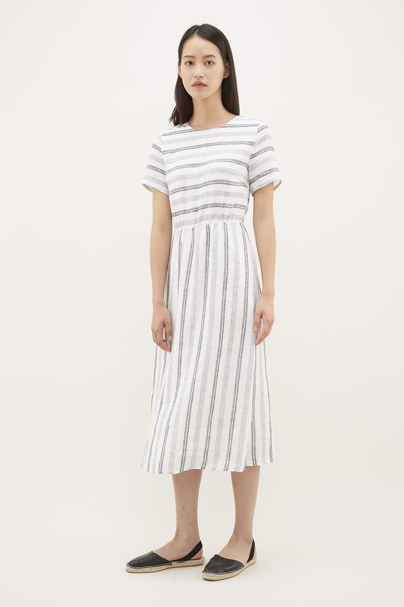Sharla Gathered-Waist Dress