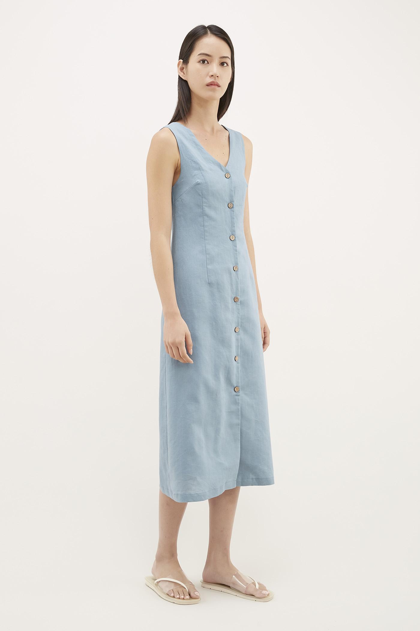 Lyster V-neck Column Dress