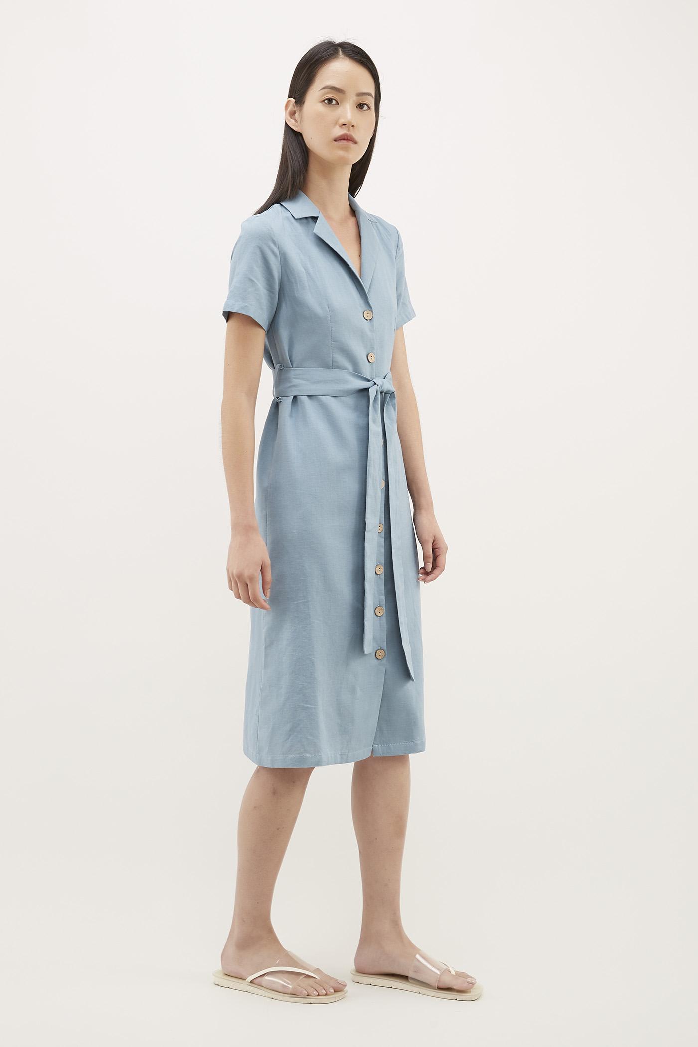 Audley Tie-waist Shirtdress